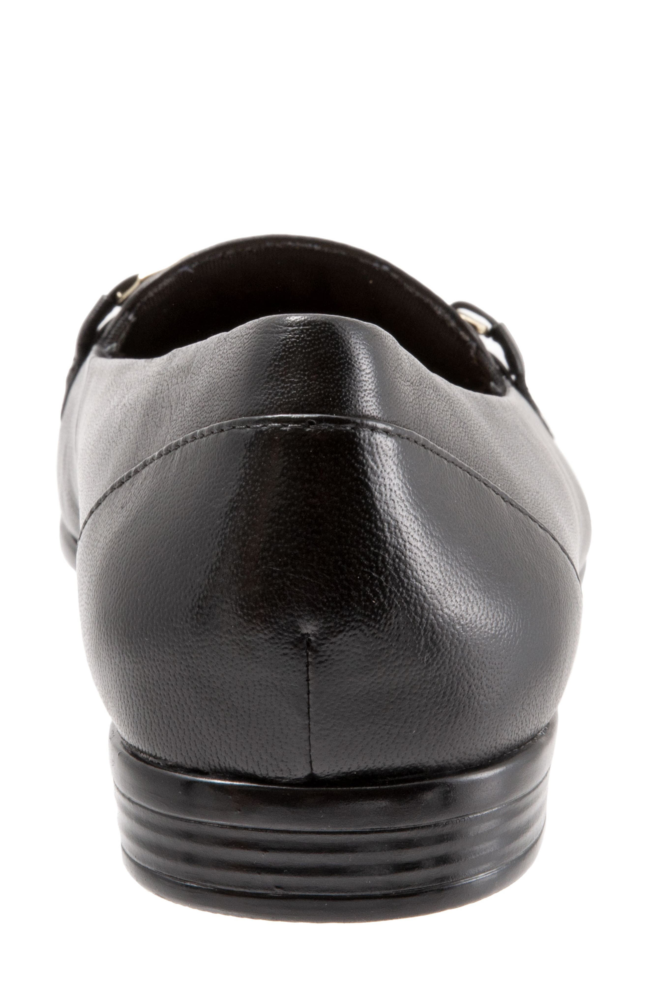 Anastasia Flat,                             Alternate thumbnail 7, color,                             DARK BLACK LEATHER