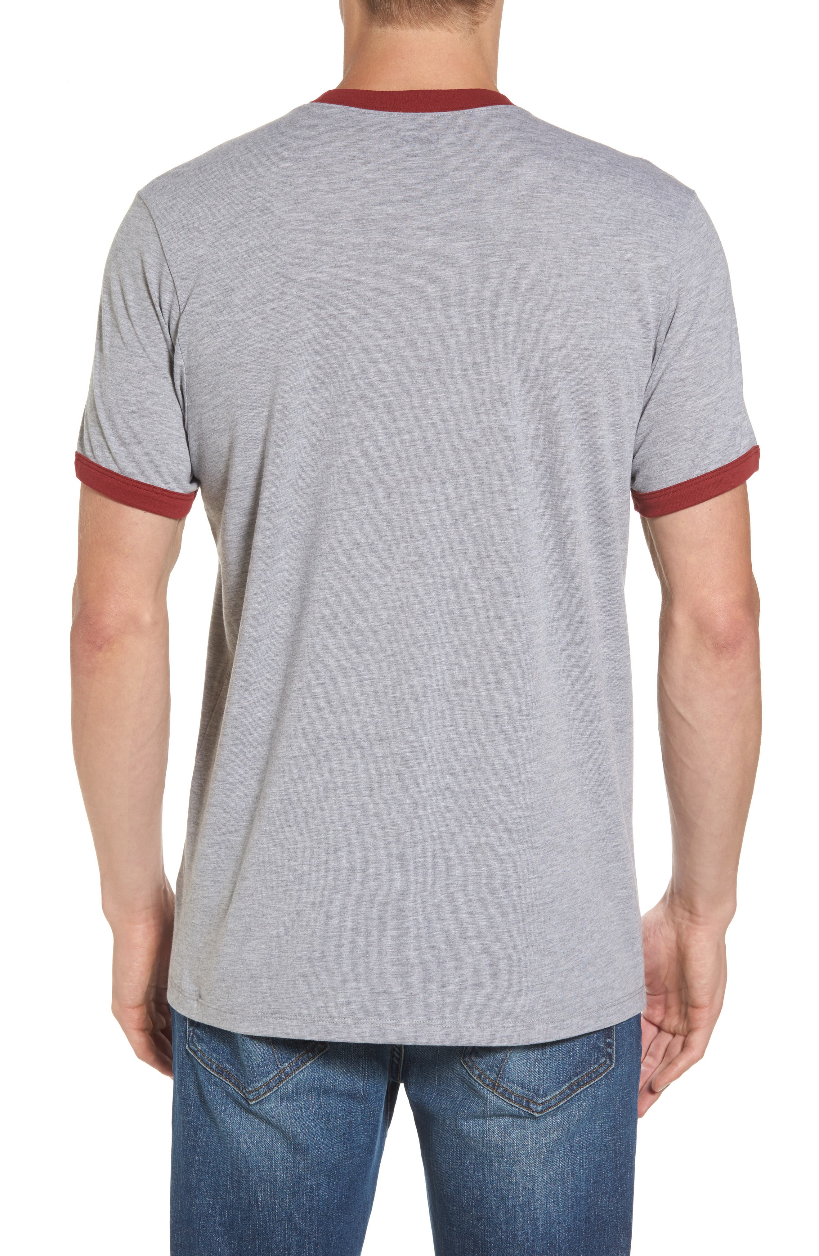 Washington State University Cougars Ringer T-Shirt,                             Alternate thumbnail 2, color,                             020