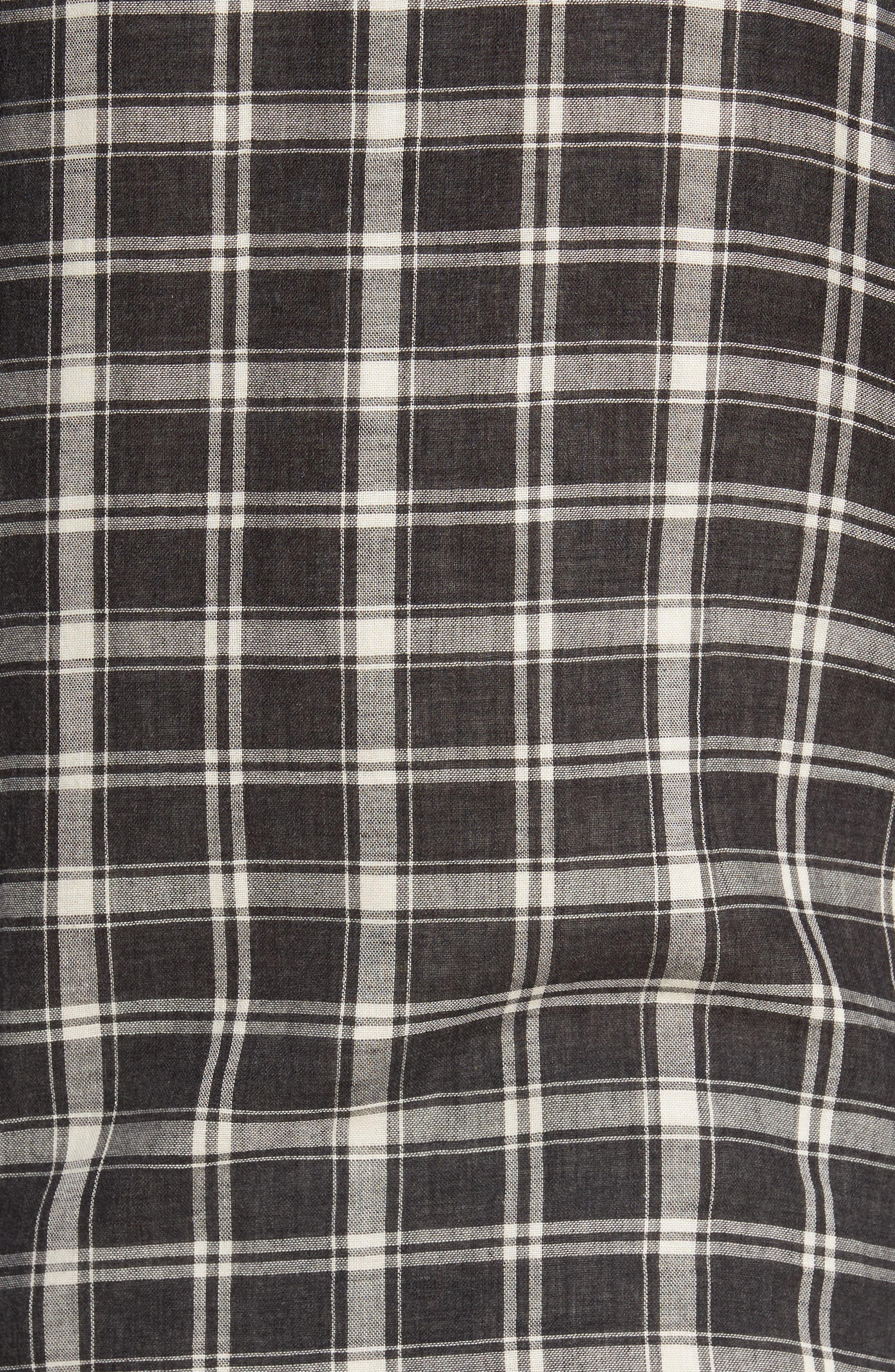 Hansen Regular Fit Plaid Sport Shirt,                             Alternate thumbnail 5, color,                             010