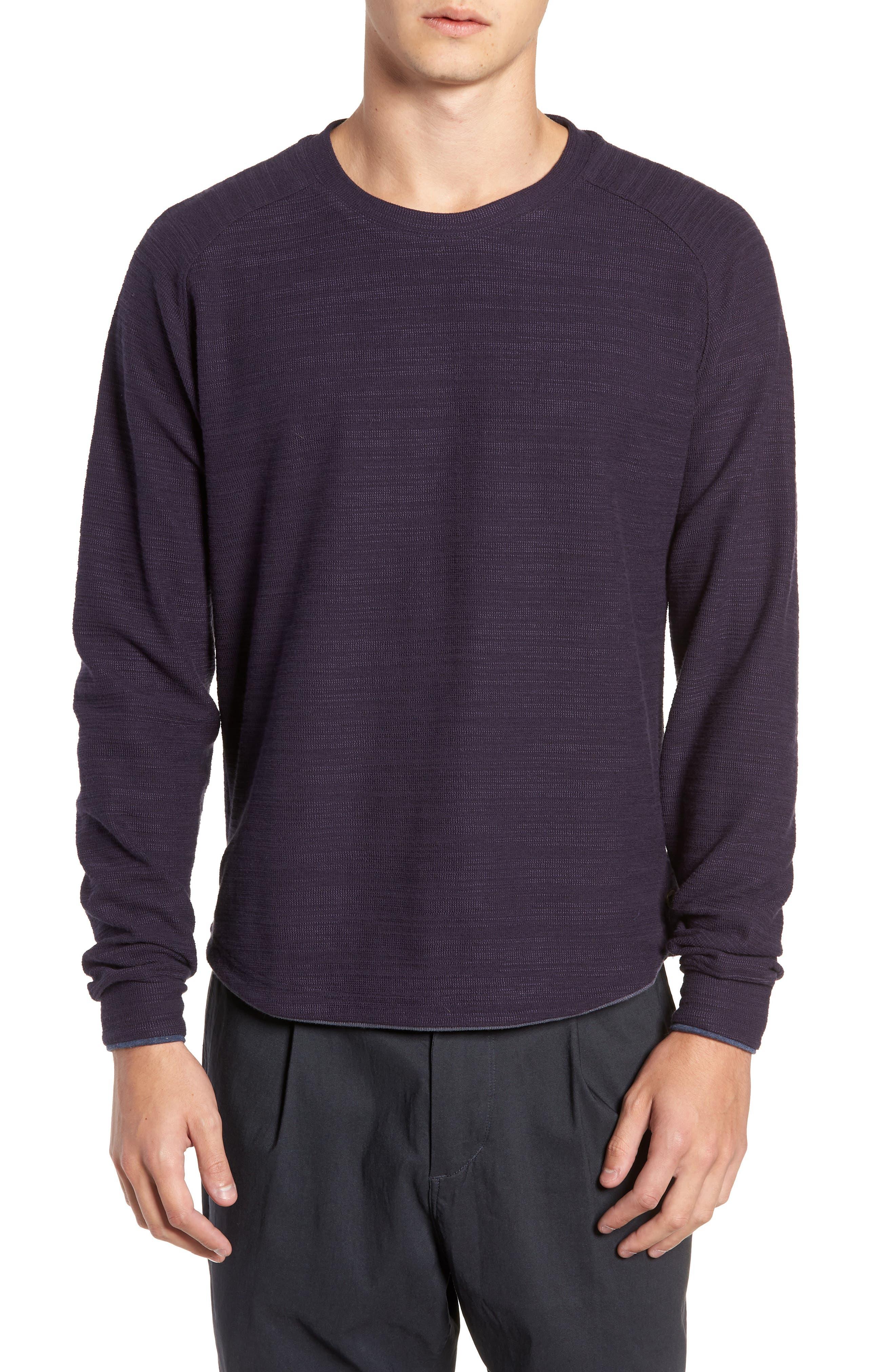 250 Loft Slubbed Crewneck Sweater,                             Main thumbnail 1, color,                             NAVY