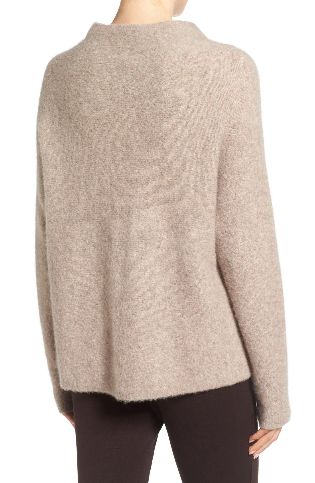'Bouclé Bliss' Cashmere & Silk Blend Funnel Neck Sweater,                             Alternate thumbnail 20, color,