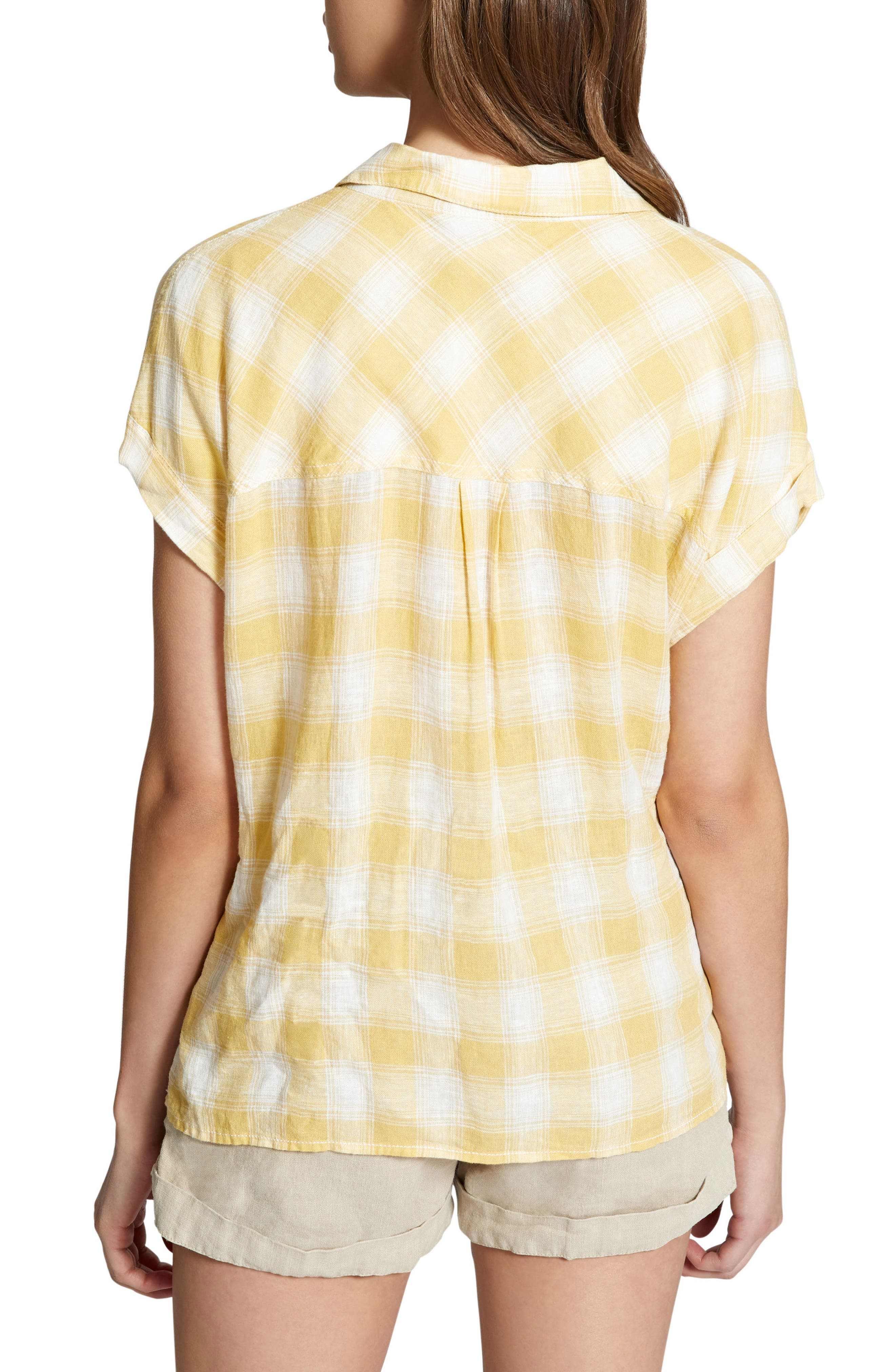 Mod Short Sleeve Boyfriend Shirt,                             Alternate thumbnail 12, color,