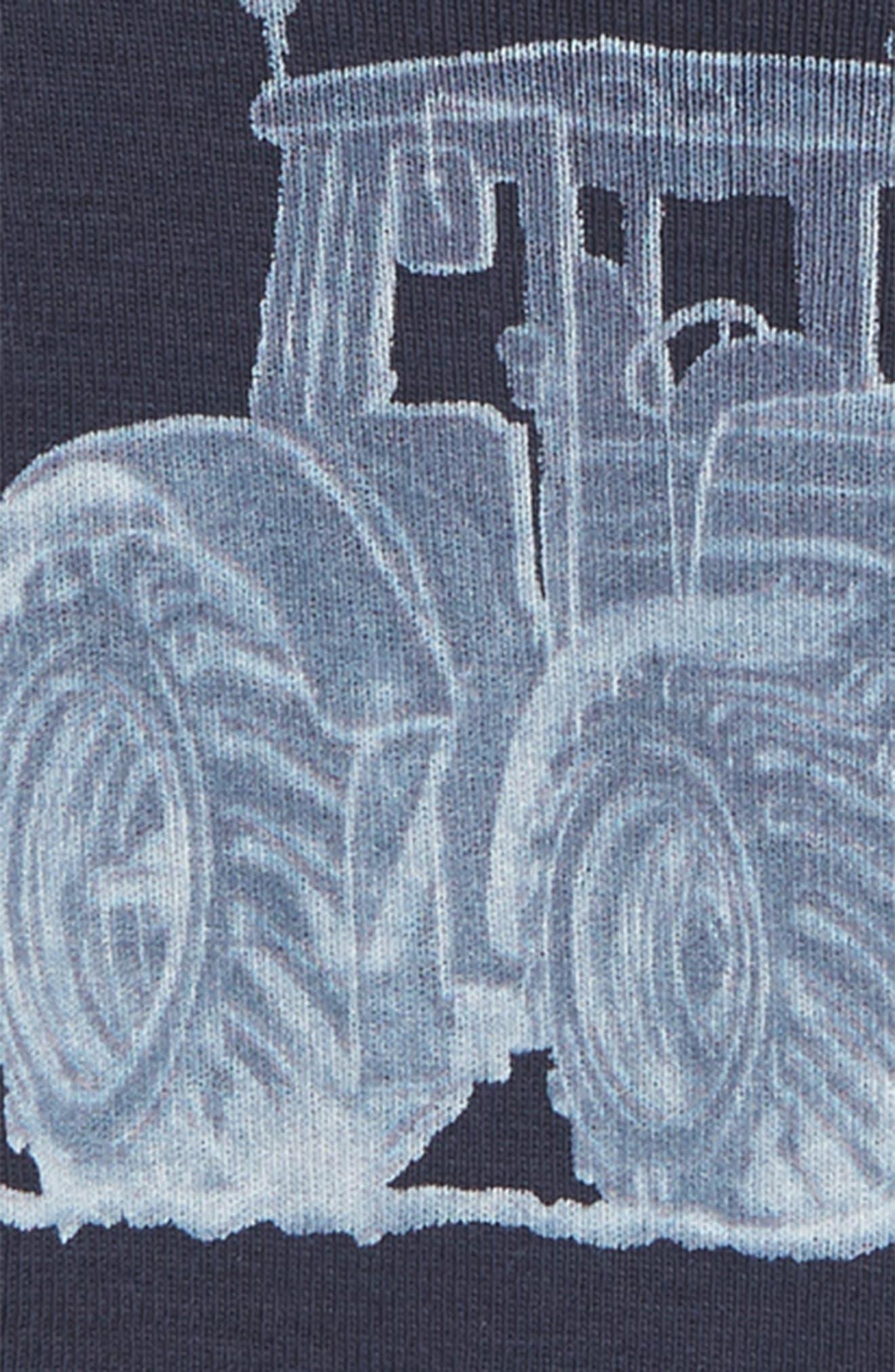 WHEAT,                             Tractor Organic Cotton T-Shirt,                             Alternate thumbnail 2, color,                             NAVY