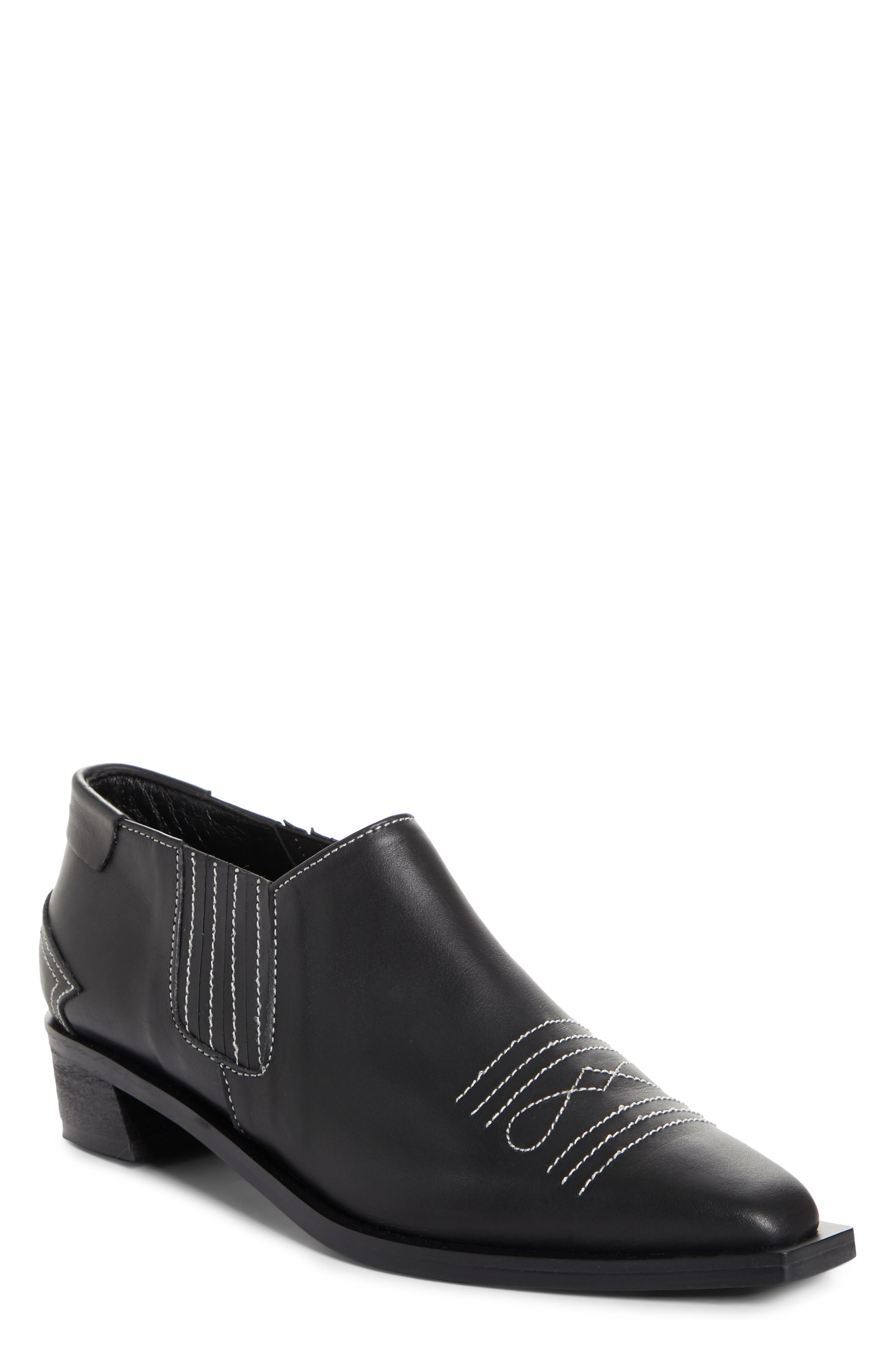 Western Loafer,                         Main,                         color, BLACK