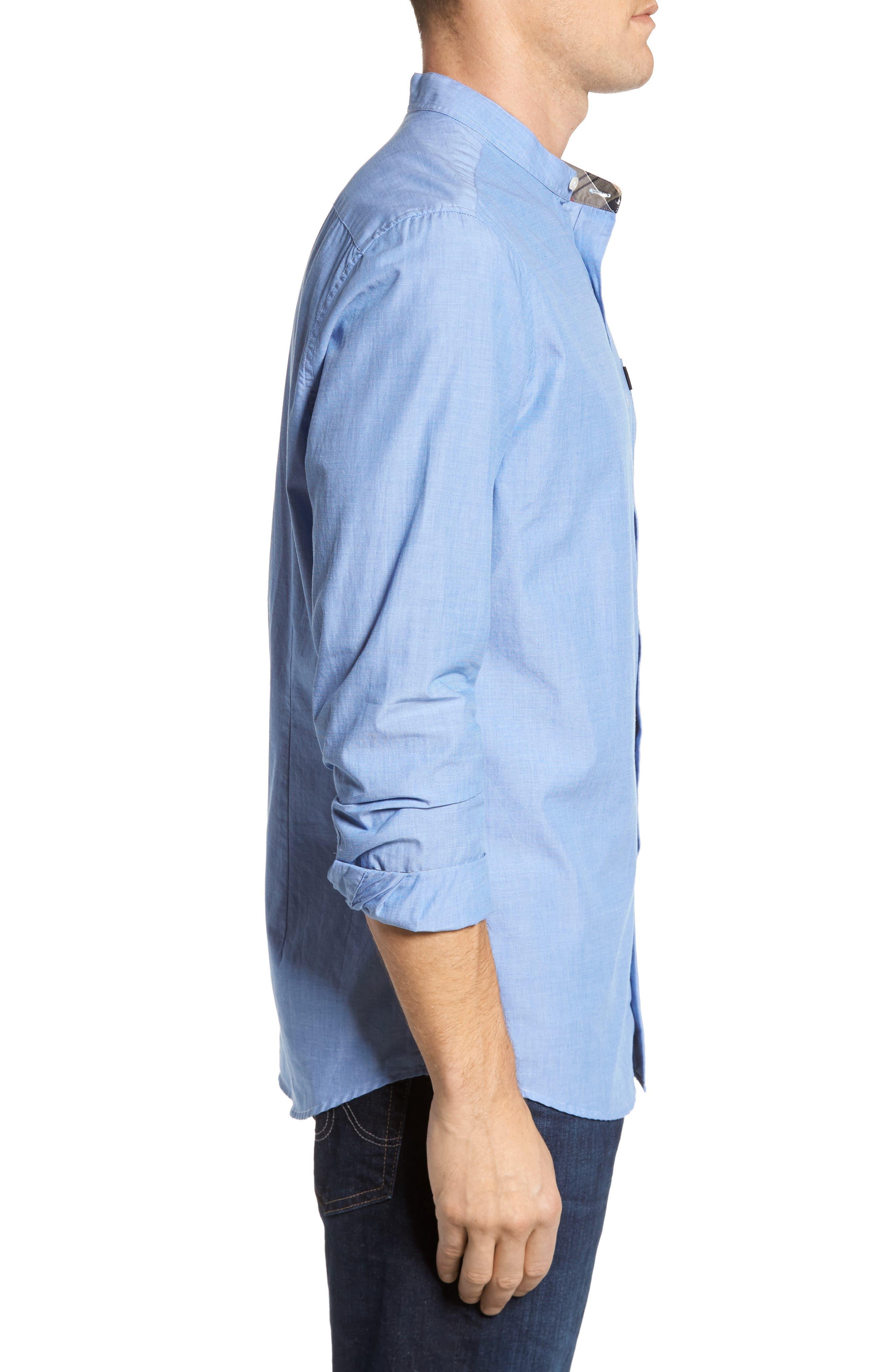 Fairfield Tailored Fit Sport Shirt,                             Alternate thumbnail 3, color,                             450