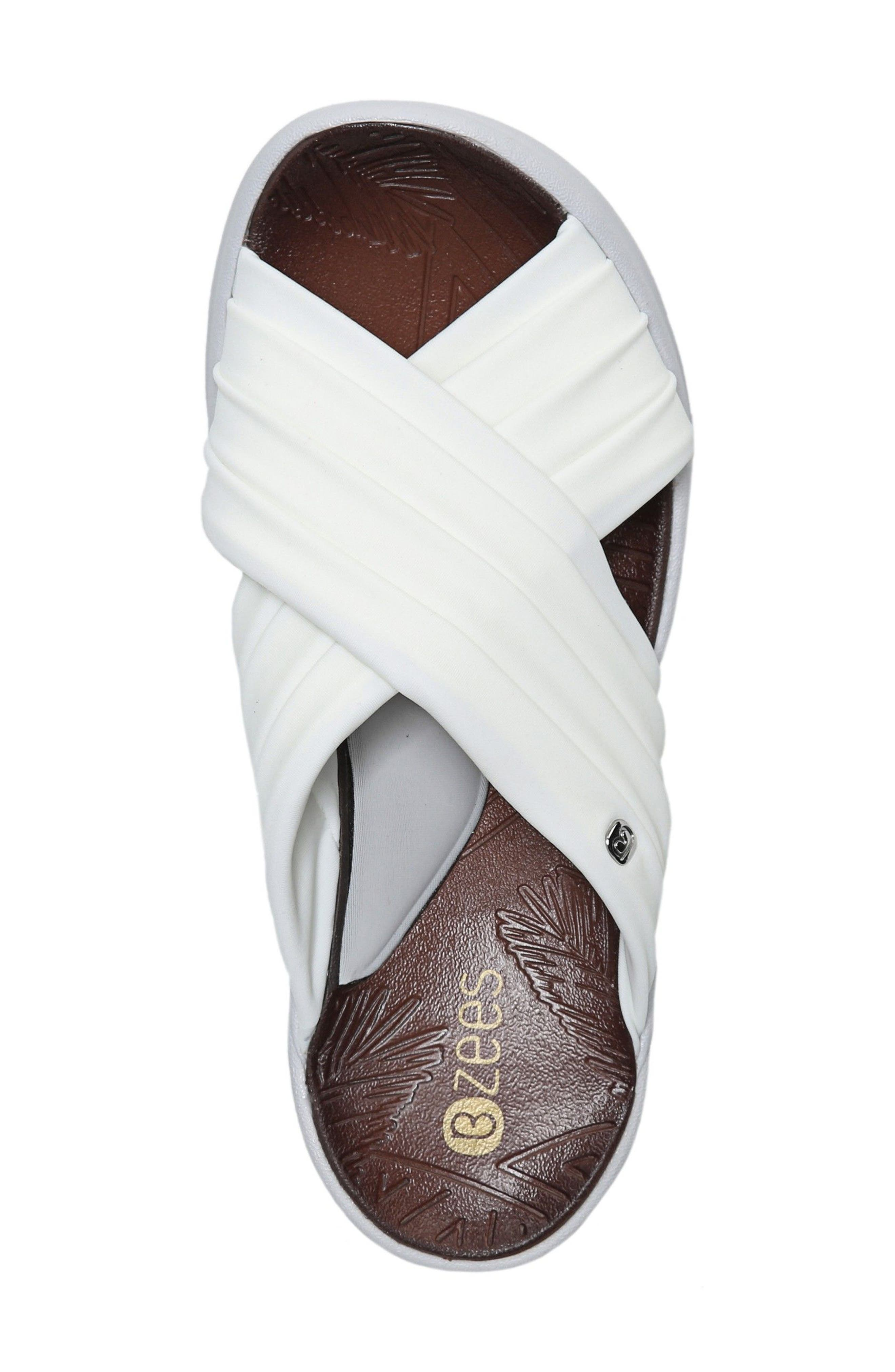 Knockout Slide Sandal,                             Alternate thumbnail 3, color,                             WHITE FABRIC