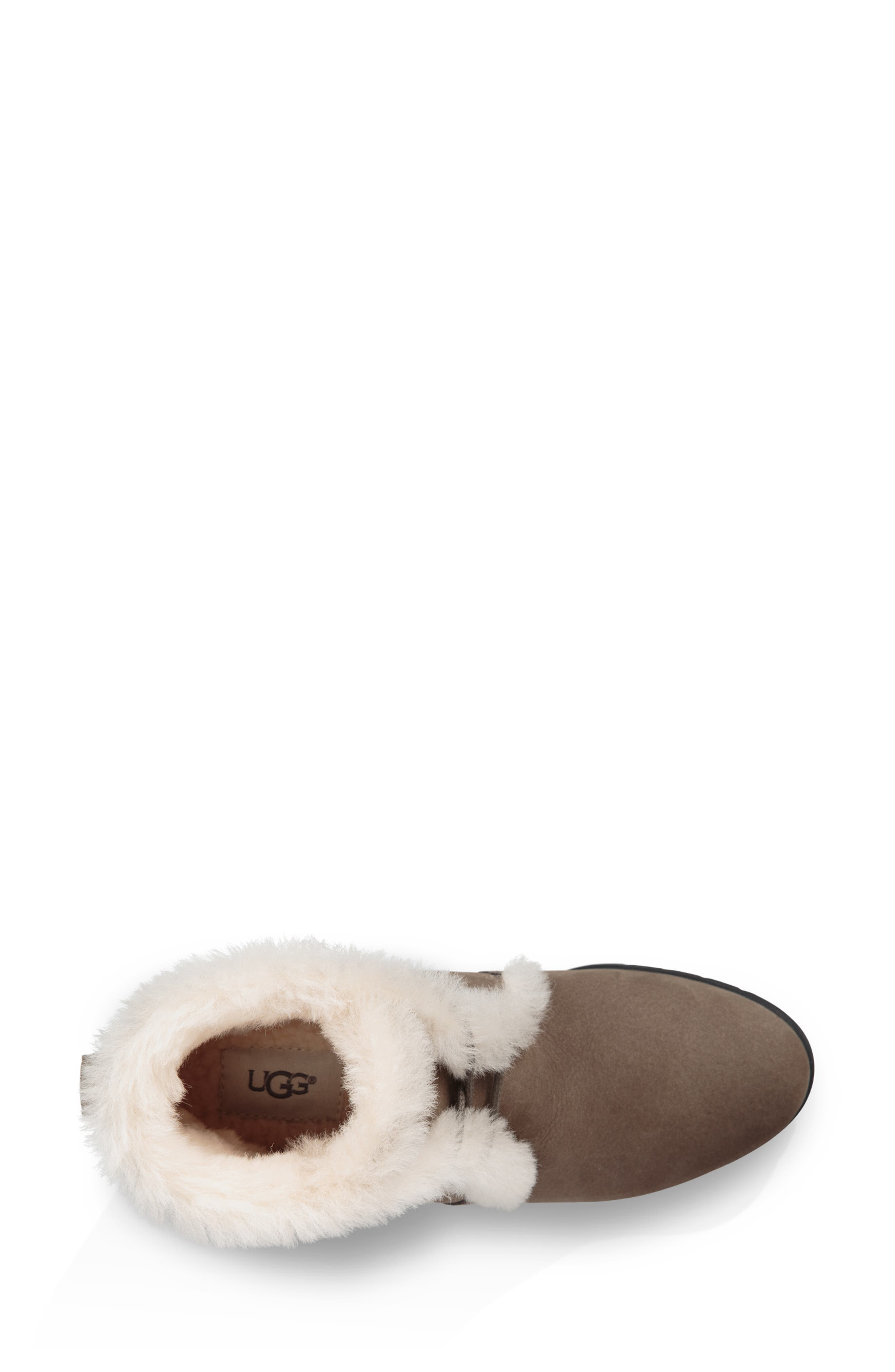 Jeovana Waterproof Genuine Shearling Lined Boot,                             Alternate thumbnail 4, color,                             MYSTERIOUS