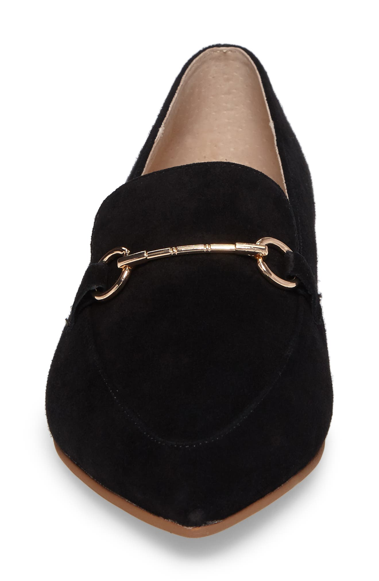Cambrie Loafer Flat,                             Alternate thumbnail 4, color,                             001