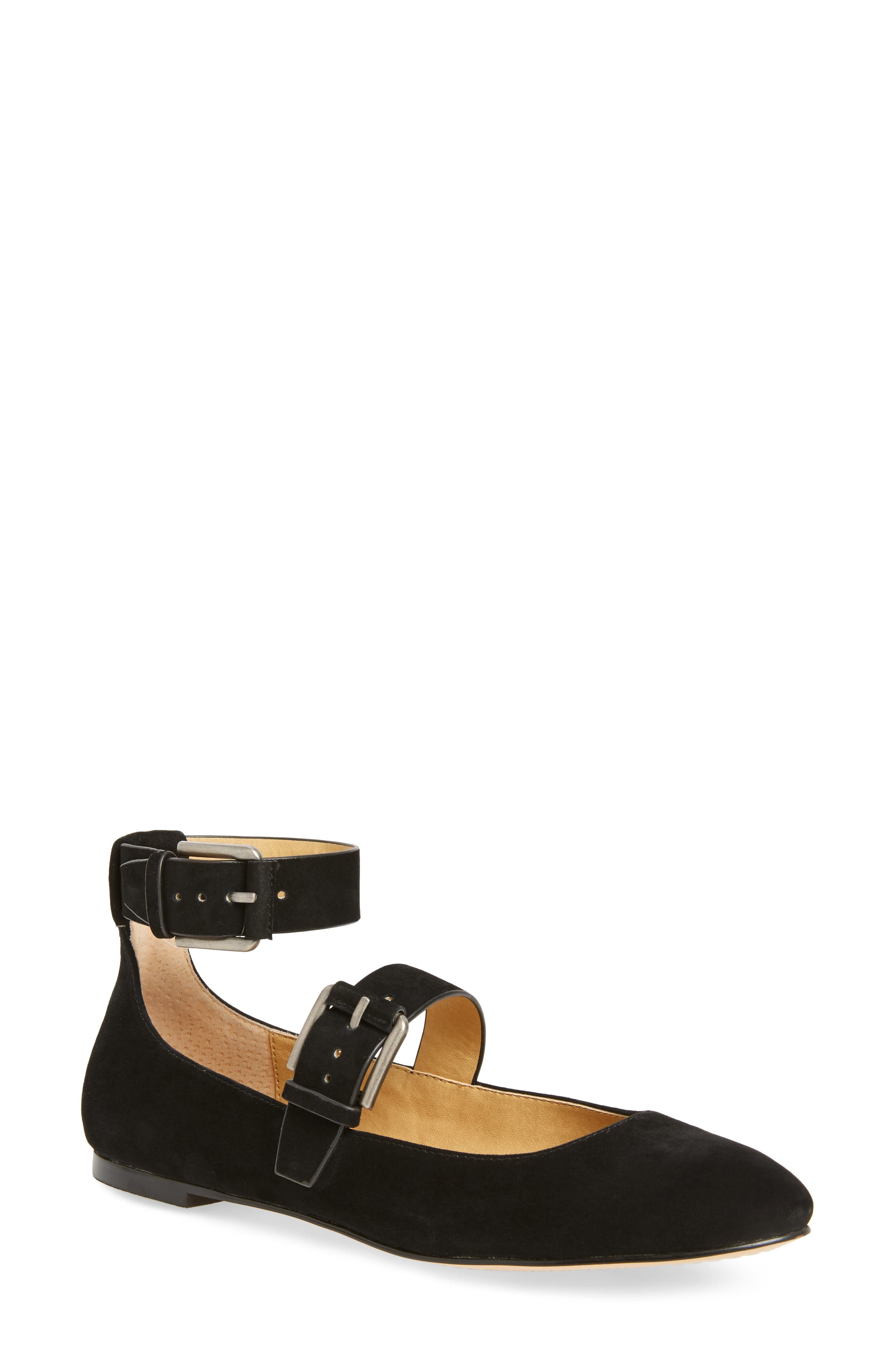 Dalenna Ankle Strap Ballet Flat,                         Main,                         color,