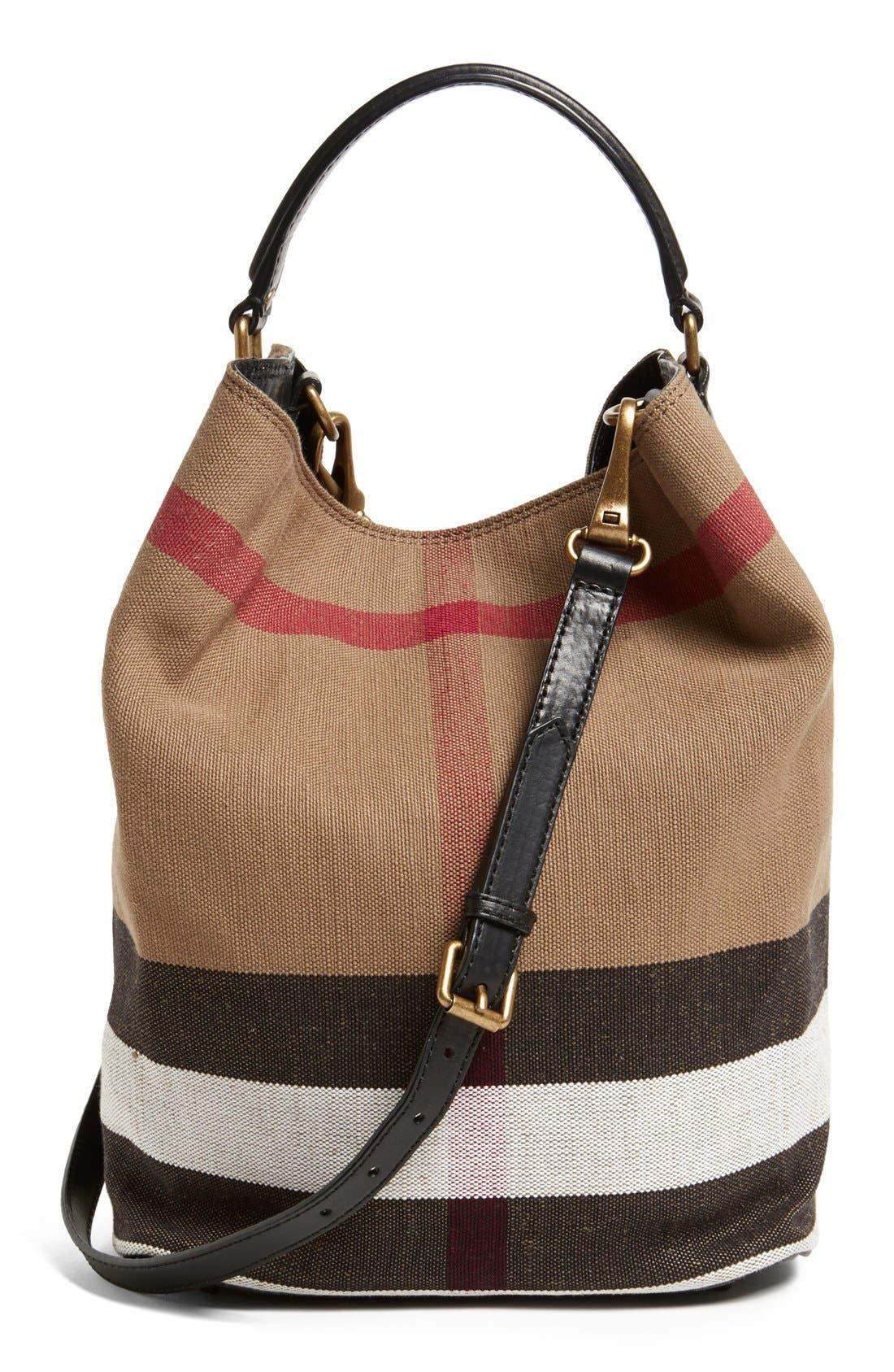 'Susanna - Medium' Bucket Bag,                             Alternate thumbnail 3, color,                             001