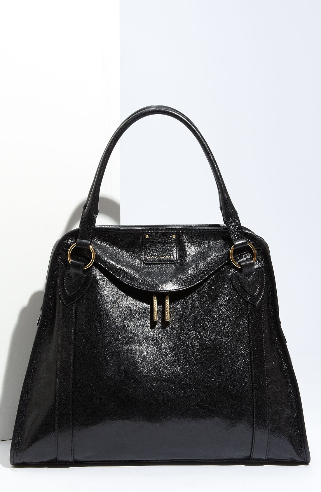 MARC JACOBS 'Wellington' Goatskin Leather Satchel, Main, color, 001