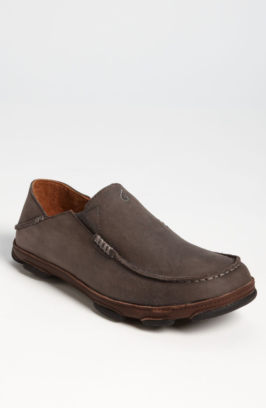 Moloa Slip-On,                         Main,                         color, STORM GREY/ DARK WOOD