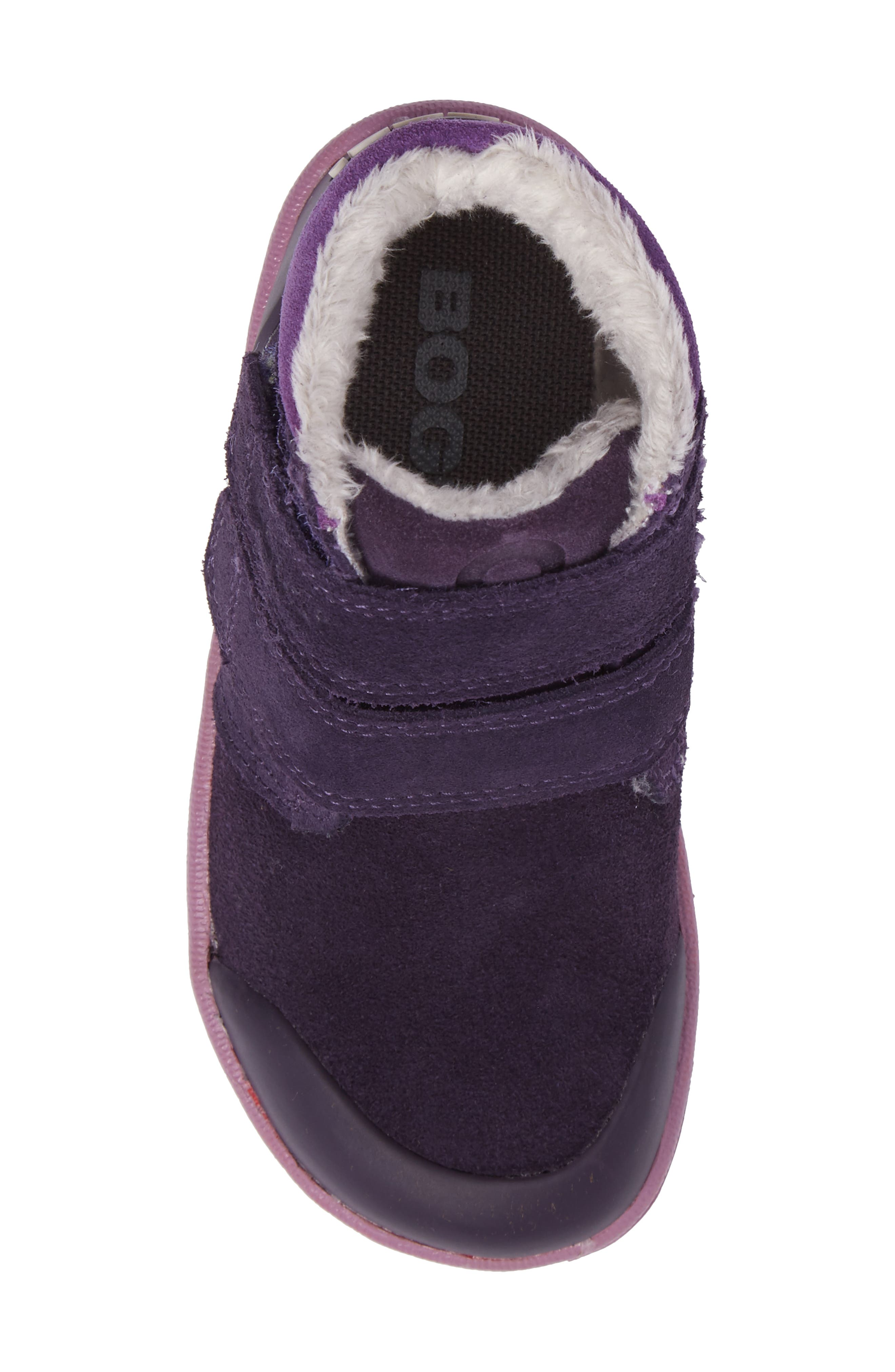 Samantha Faux Fur Waterproof Boot,                             Alternate thumbnail 5, color,                             EGGPLANT