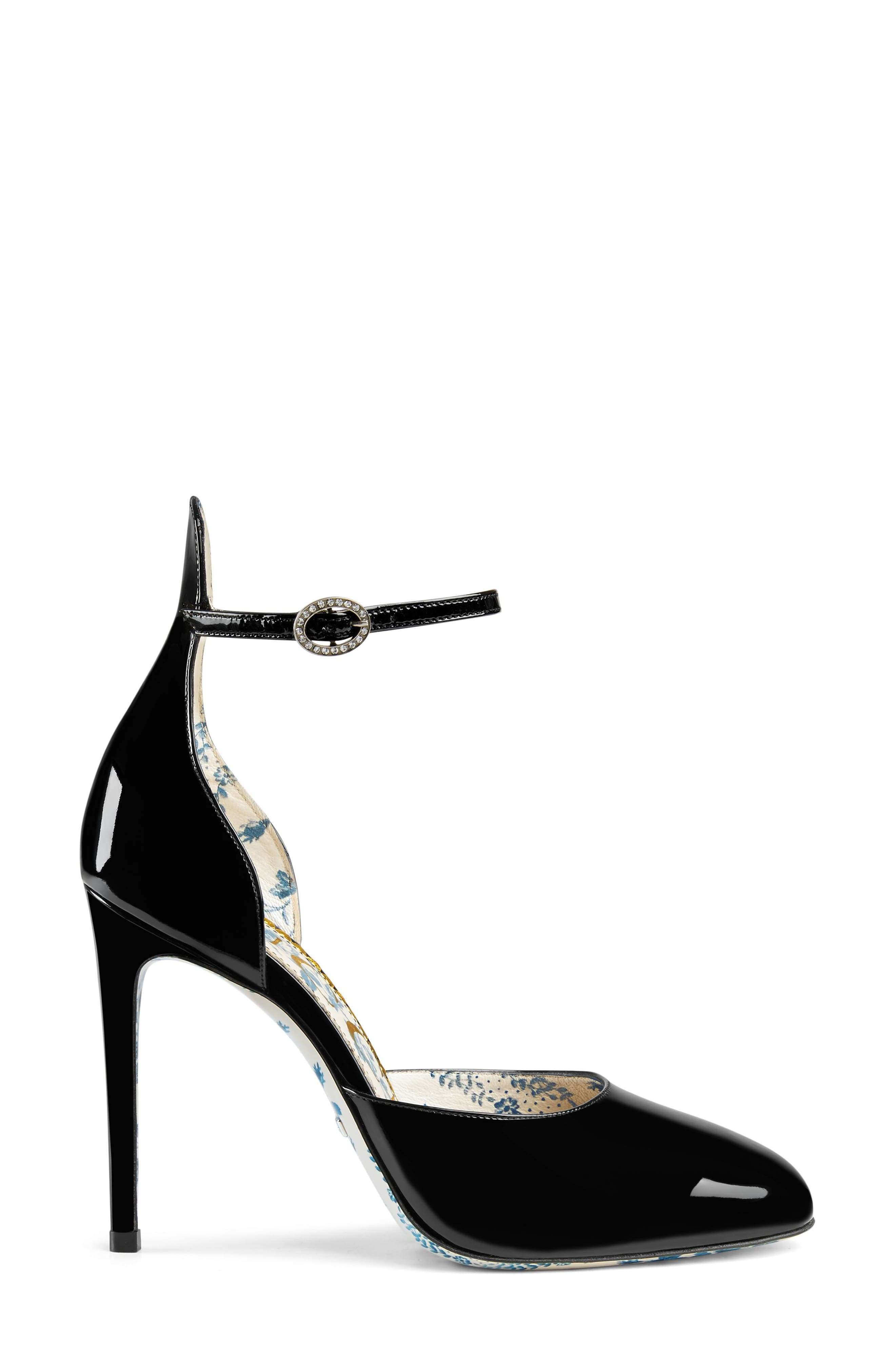 Ankle Strap Pump,                             Alternate thumbnail 3, color,                             001
