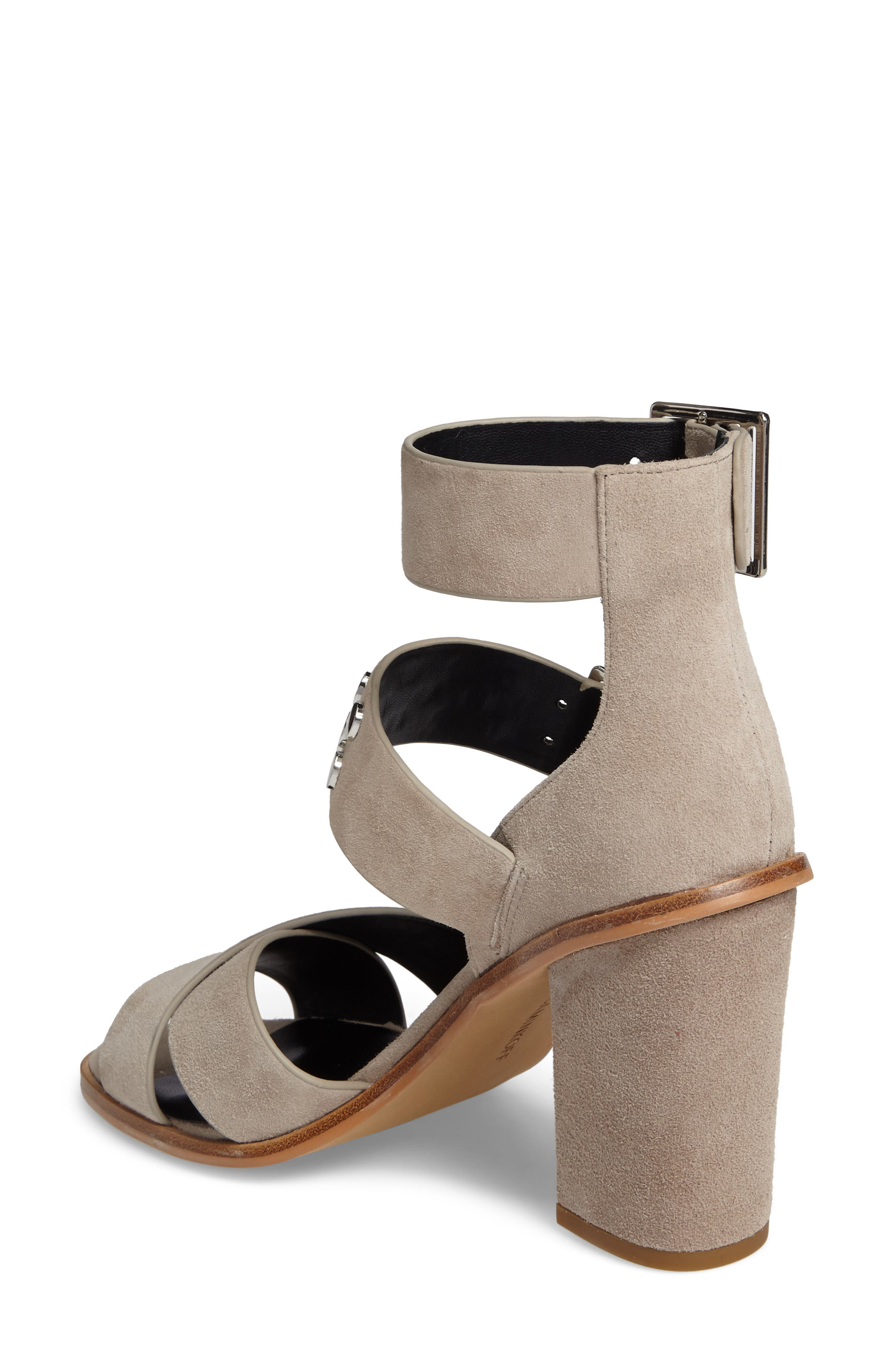 Jennifer Studded Ankle Cuff Sandal,                             Alternate thumbnail 5, color,