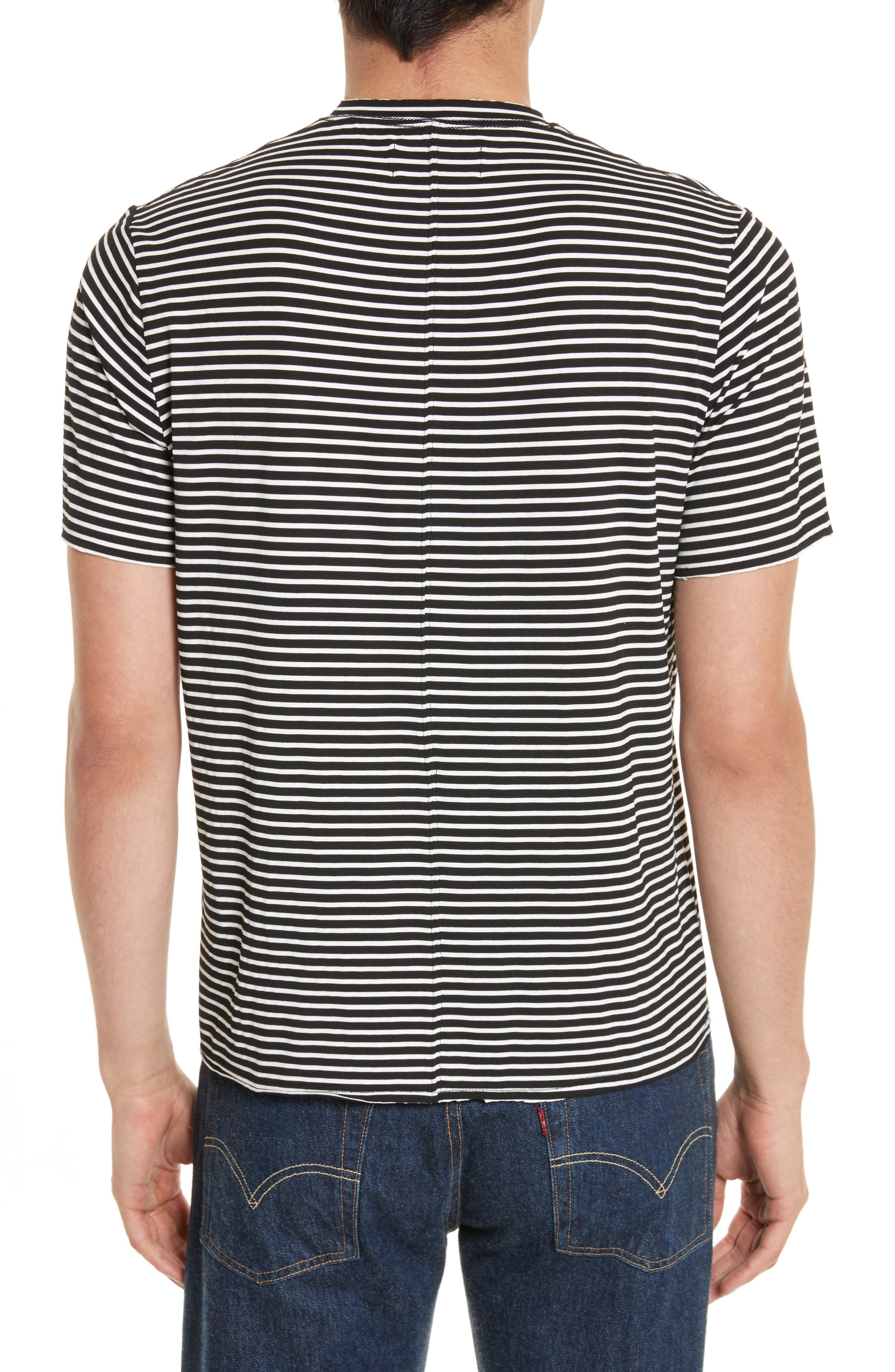 Raw Edge Stripe T-Shirt,                             Alternate thumbnail 2, color,                             008