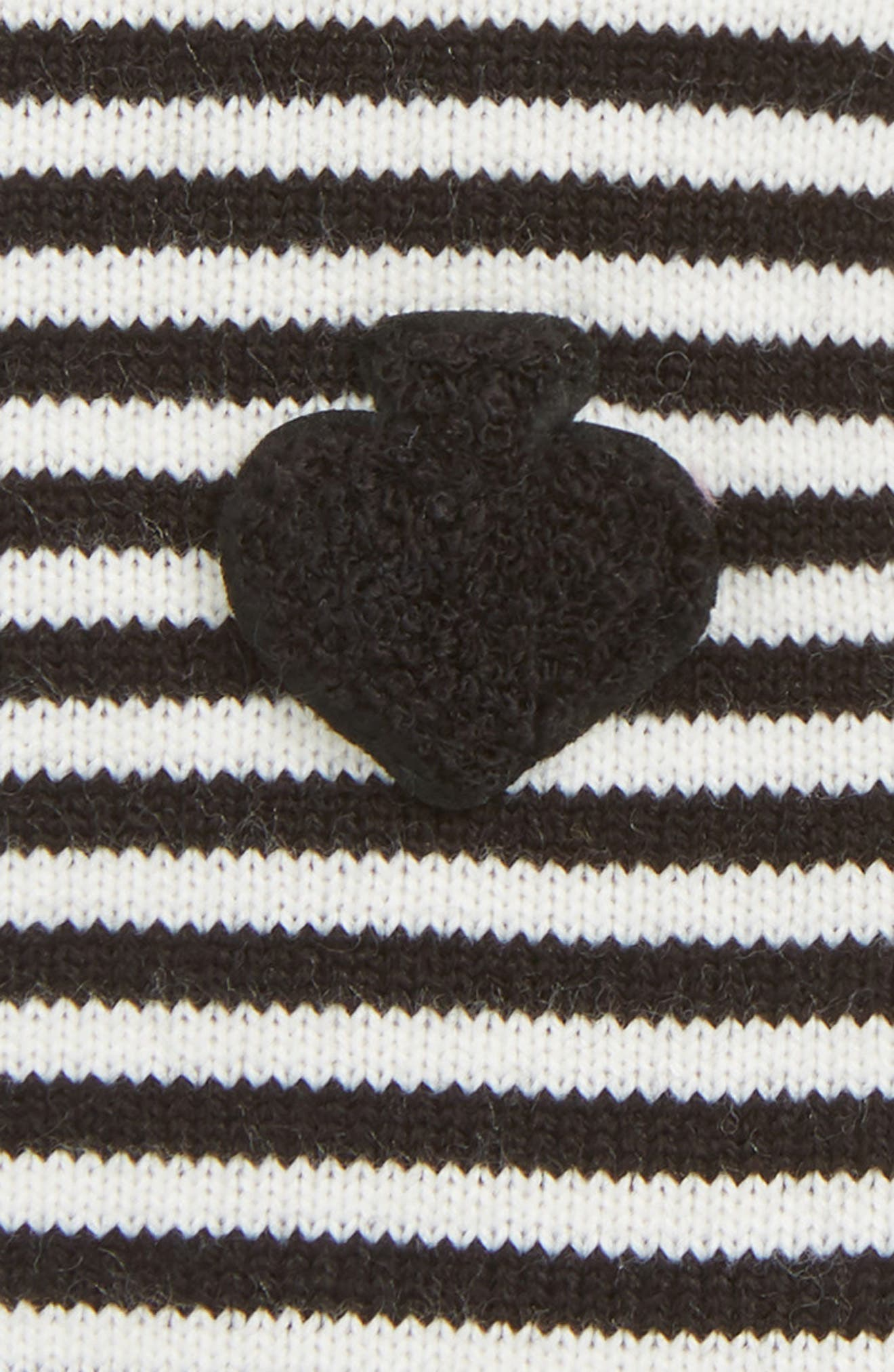 stripe arm warmers,                             Alternate thumbnail 2, color,                             BLACK/ CREAM