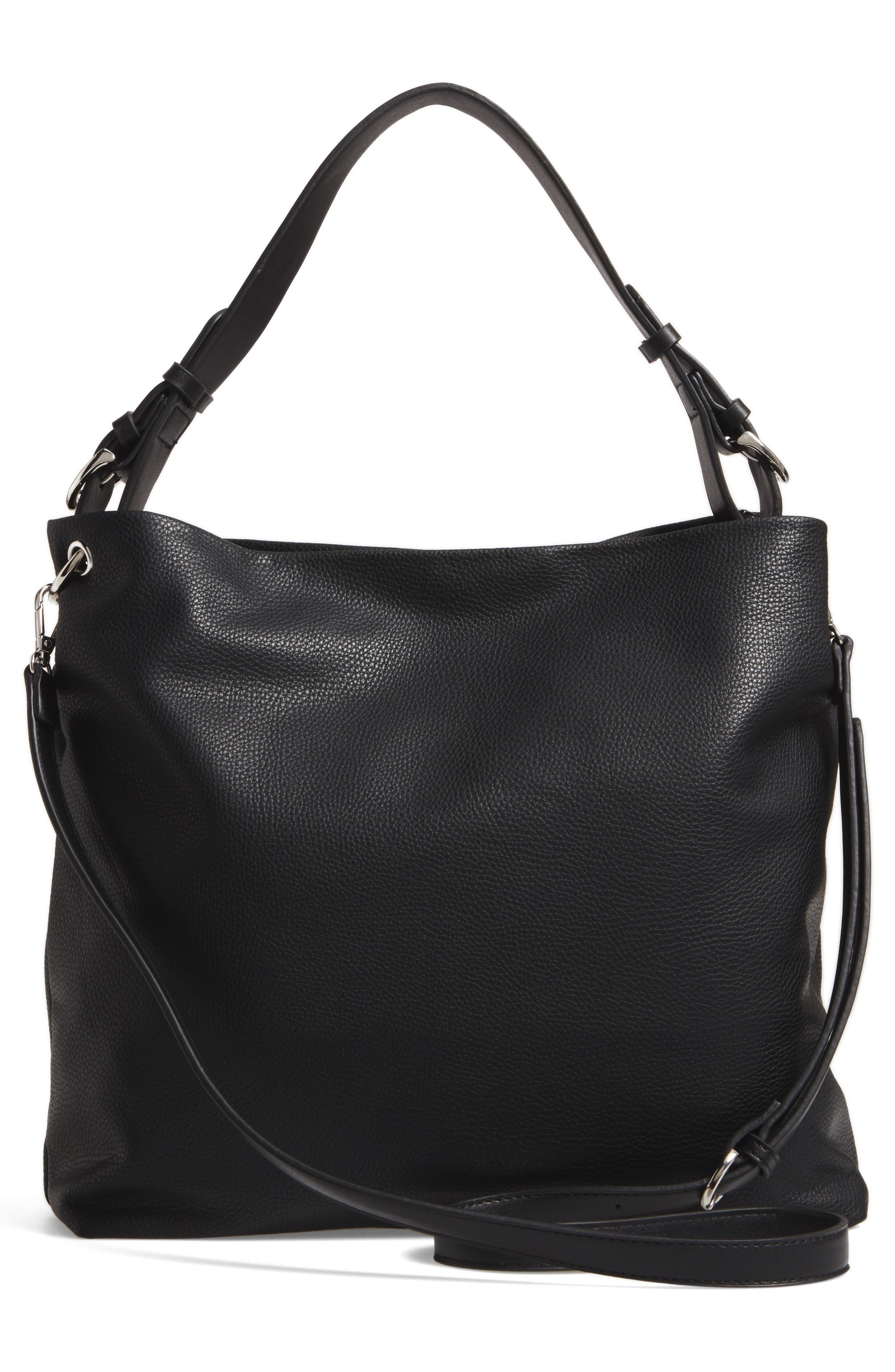 Taylor Faux Leather Shoulder Bag,                             Alternate thumbnail 7, color,