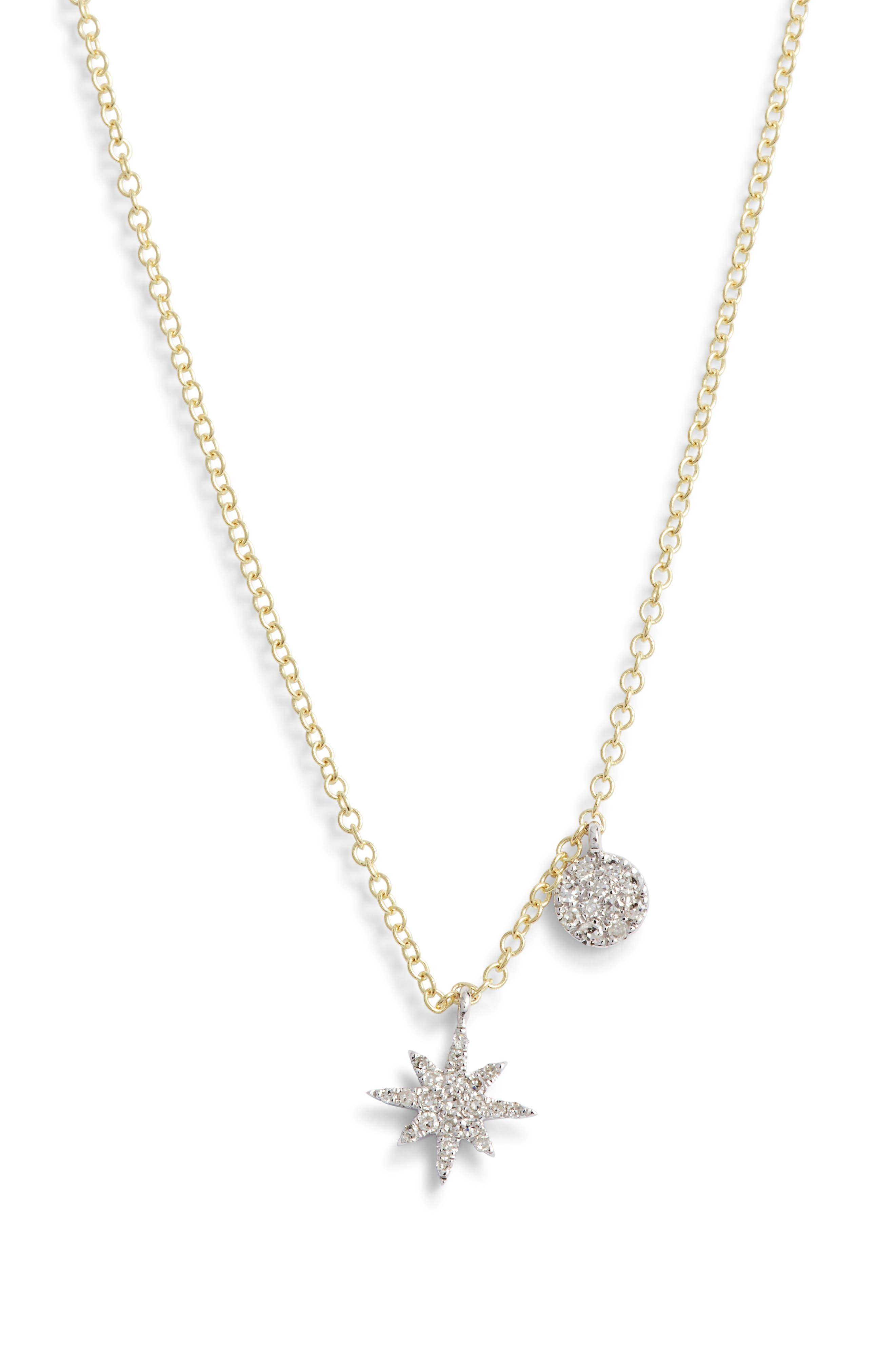 MEIRA T Diamond Start Pendant Necklace in Gold
