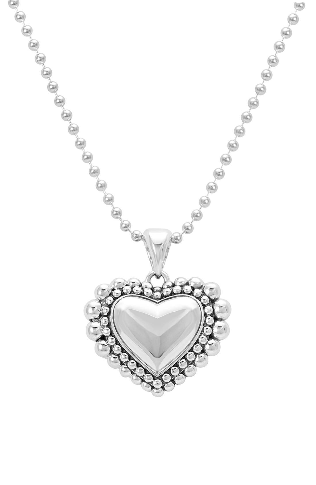 Long Heart Pendant Necklace,                             Alternate thumbnail 3, color,                             040