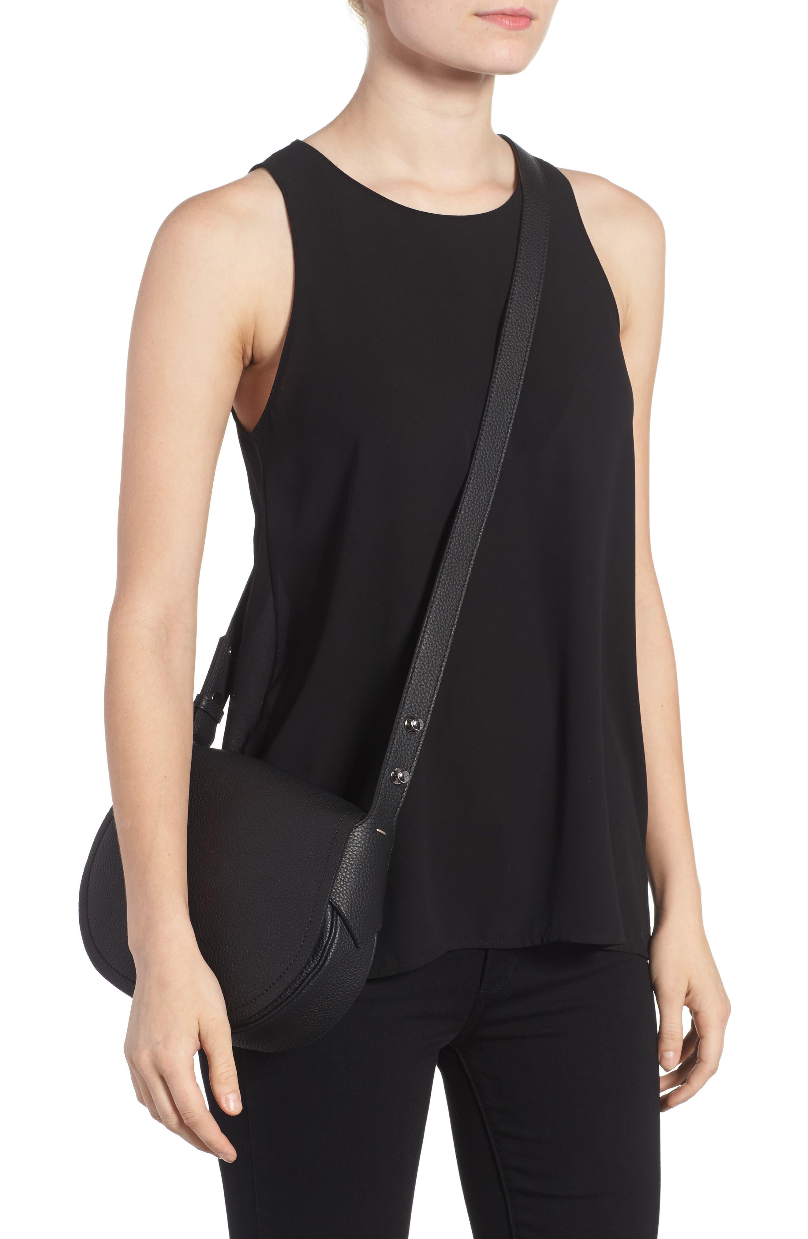 Mini Valeria Cachemire Leather Crossbody Bag,                             Alternate thumbnail 2, color,                             001