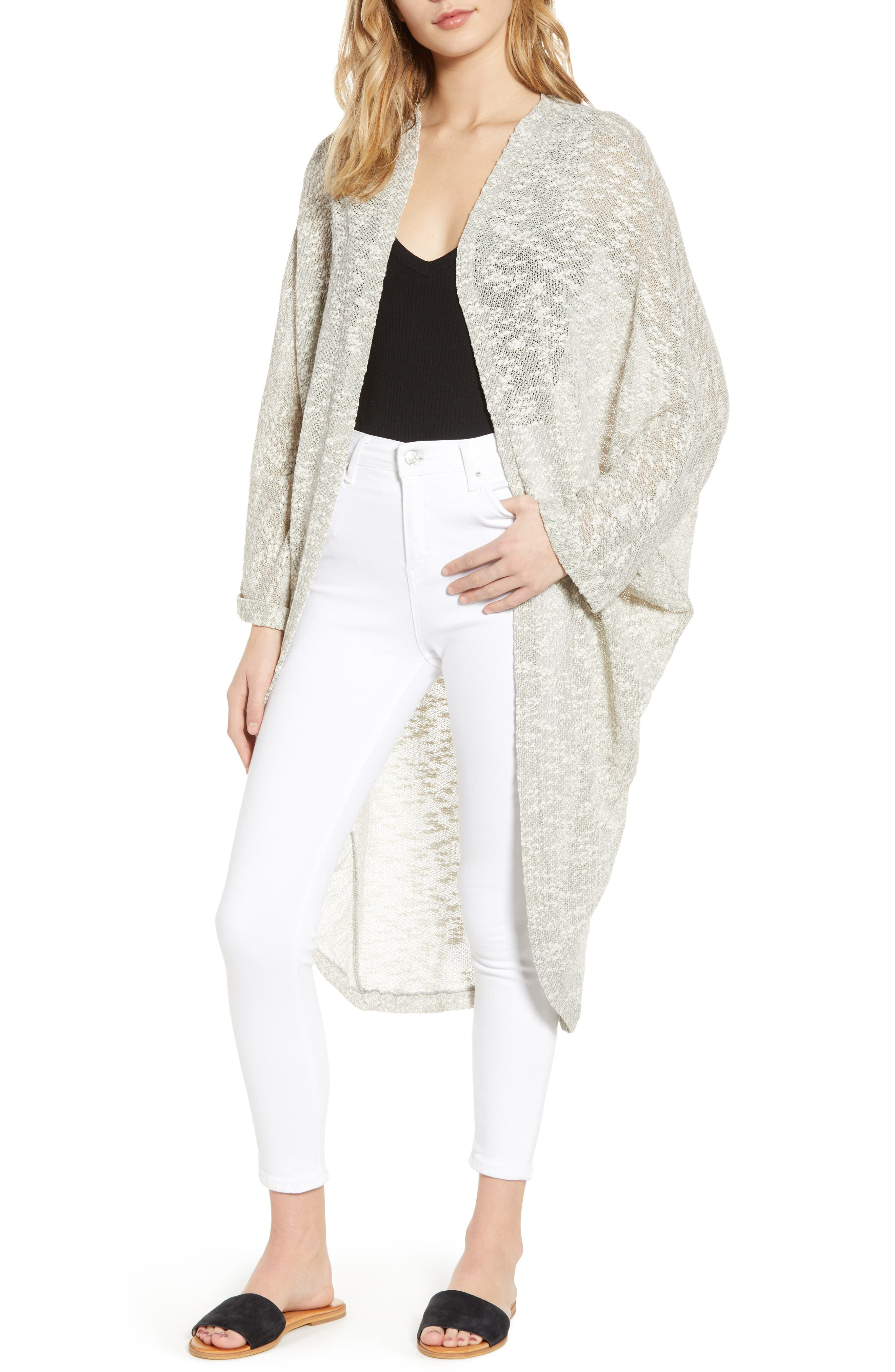 Free People Promenade Cocoon Cardigan, Size One Size - Grey