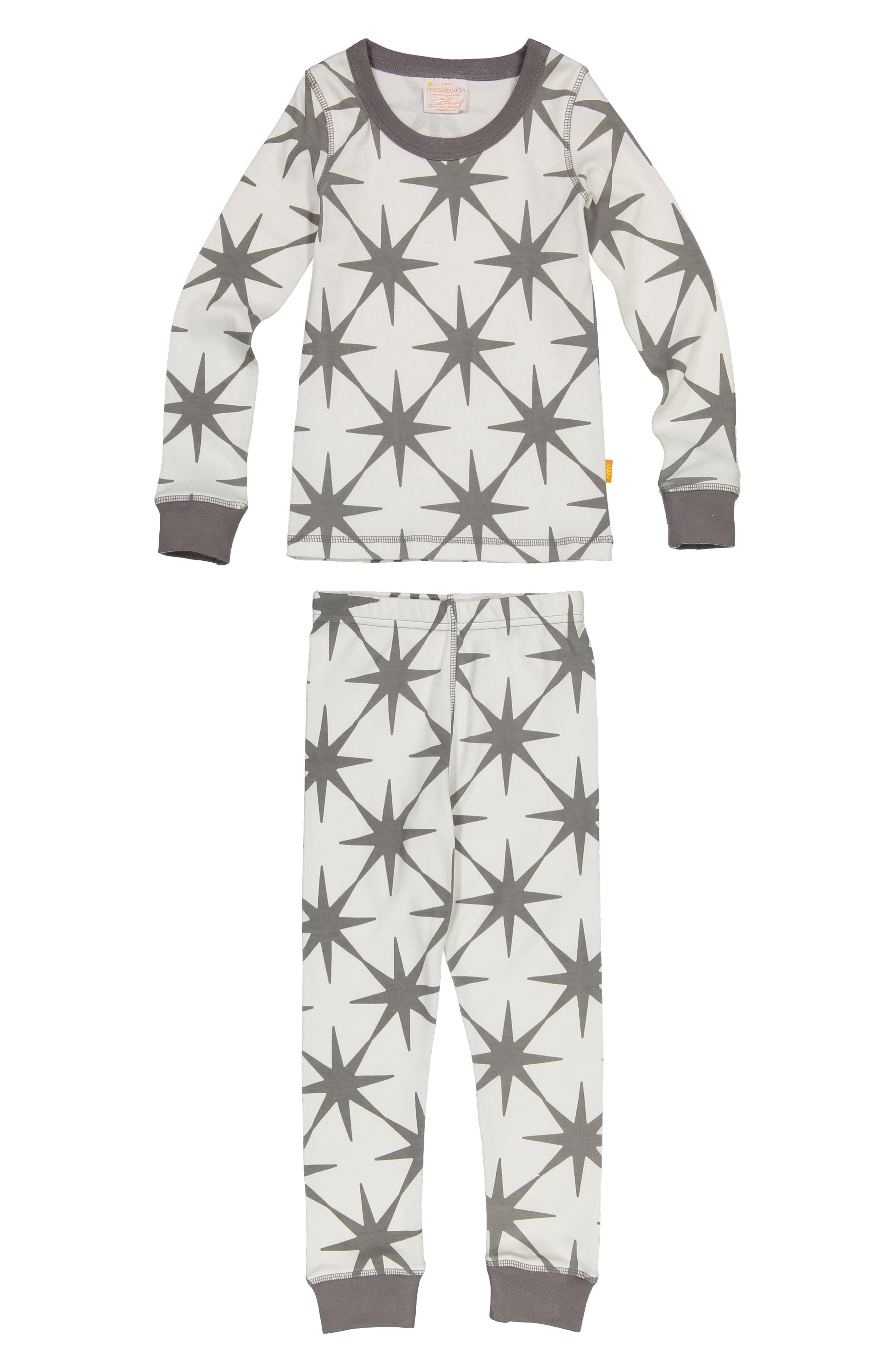Organic Cotton Fitted Two-Piece Pajamas,                             Main thumbnail 1, color,                             BLUE