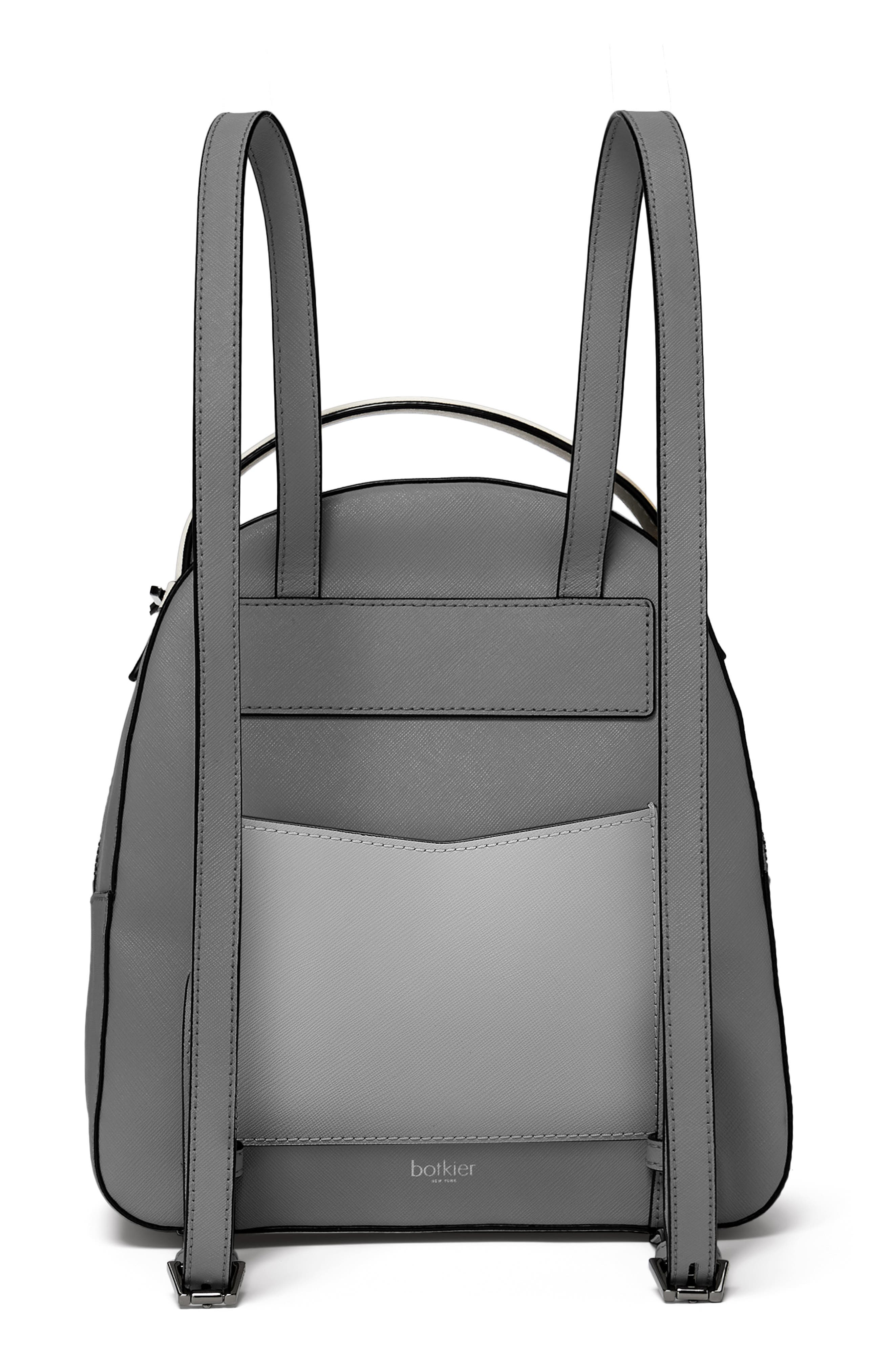 Cobble Hill Leather Backpack,                             Alternate thumbnail 2, color,                             PEWTER COMBO