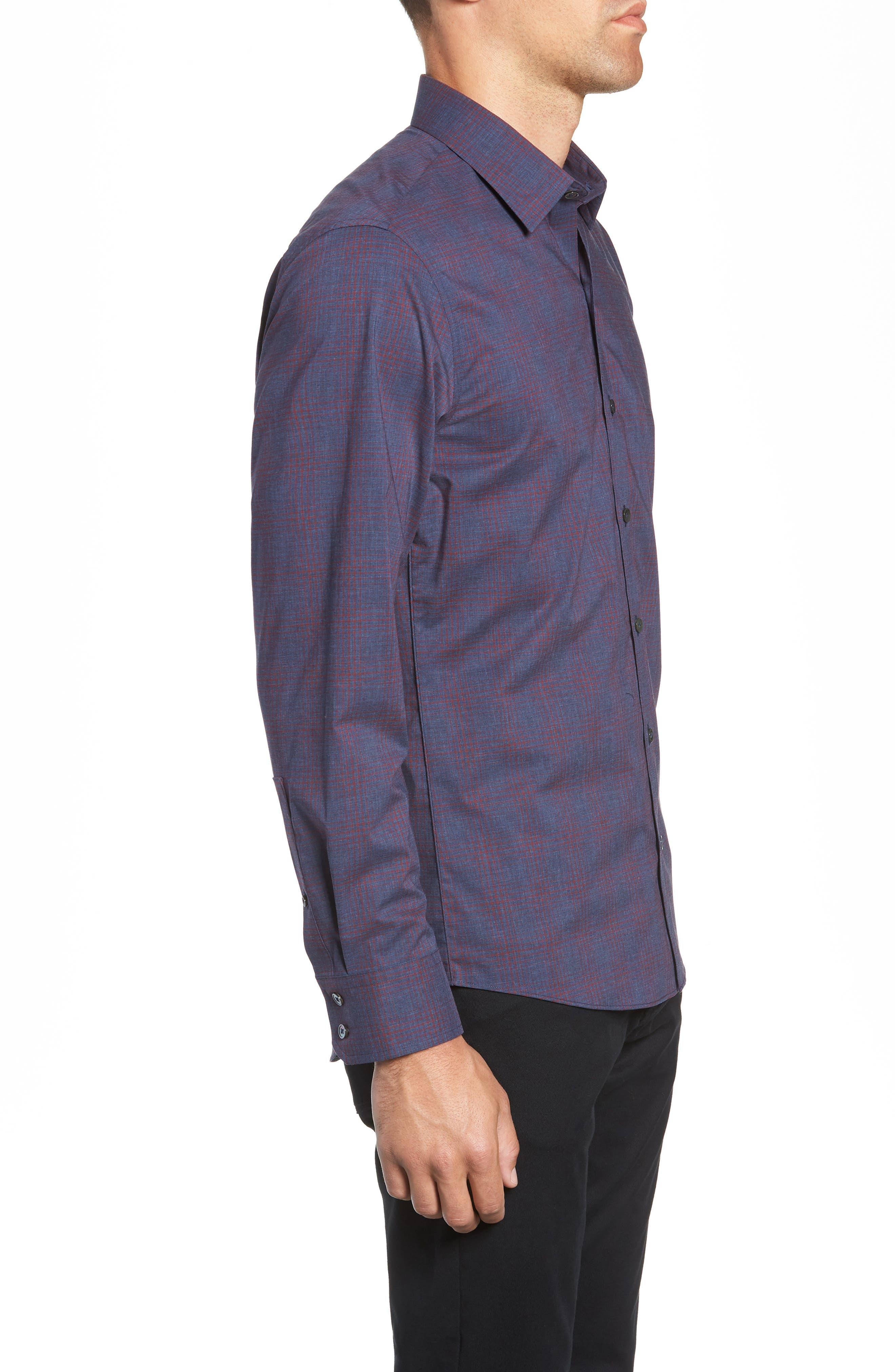 ZACHARY PRELL,                             Maslin Regular Fit Sport Shirt,                             Alternate thumbnail 4, color,                             461