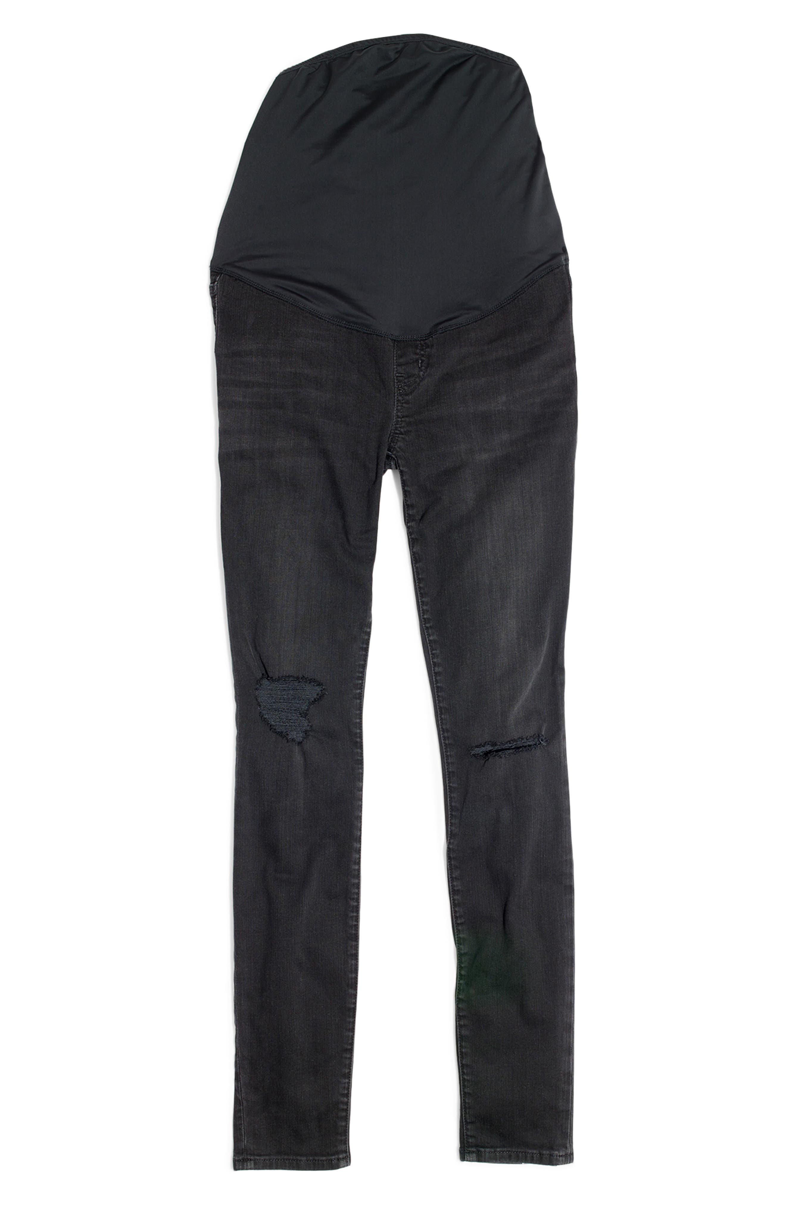 Maternity Skinny Jeans,                             Alternate thumbnail 4, color,                             009