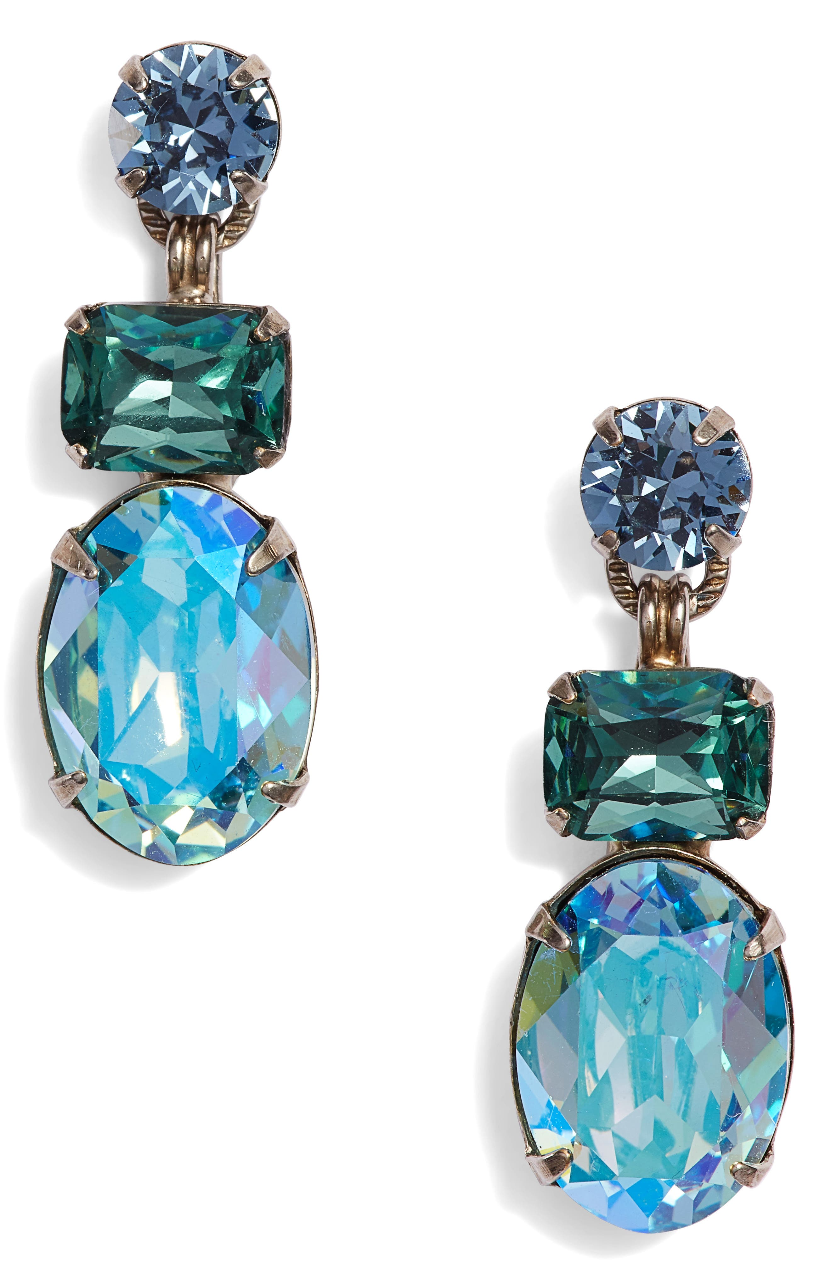 Forget Me Not Earrings,                             Main thumbnail 1, color,                             BLUE