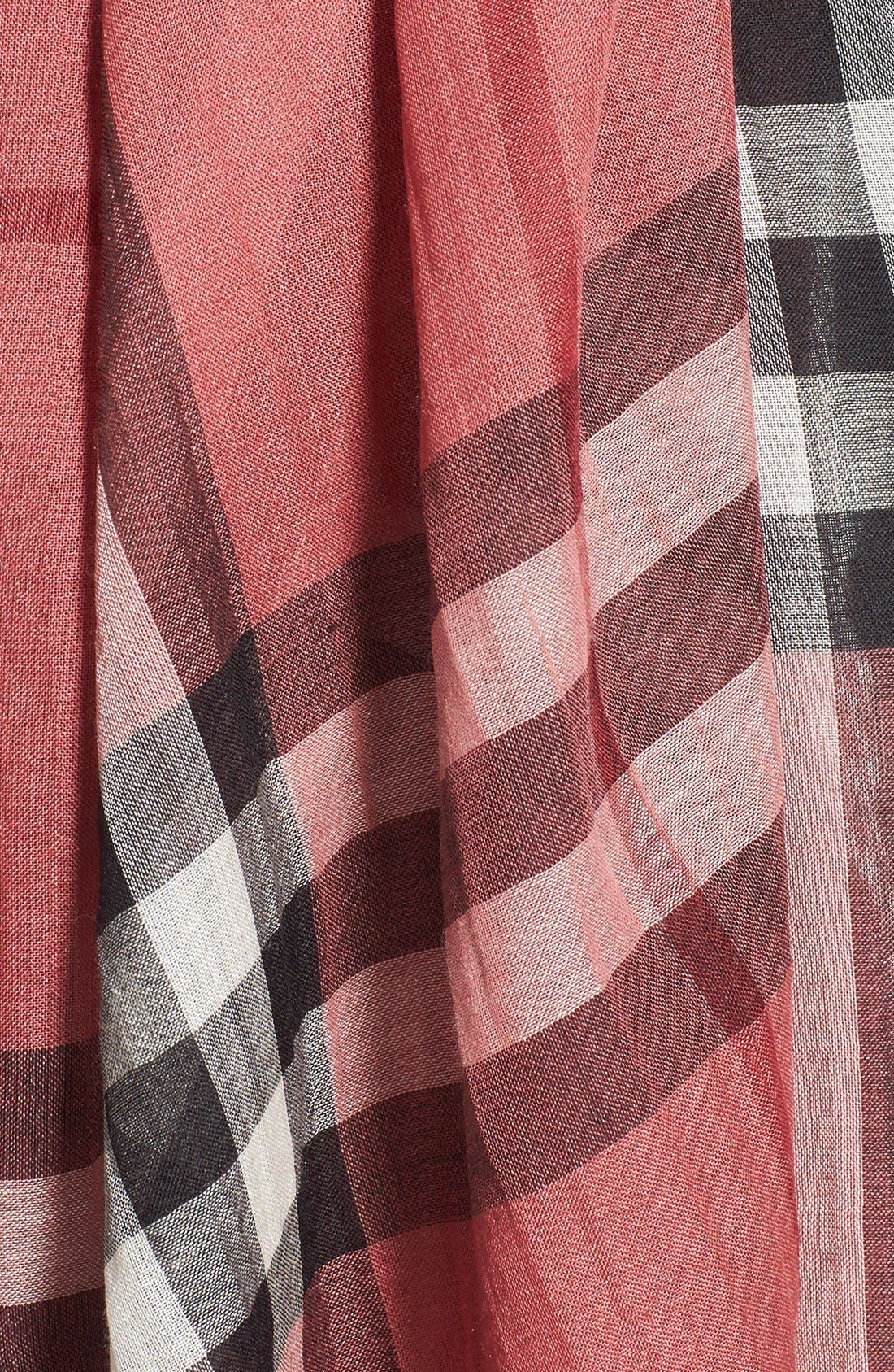 Giant Check Print Wool & Silk Scarf,                             Alternate thumbnail 149, color,