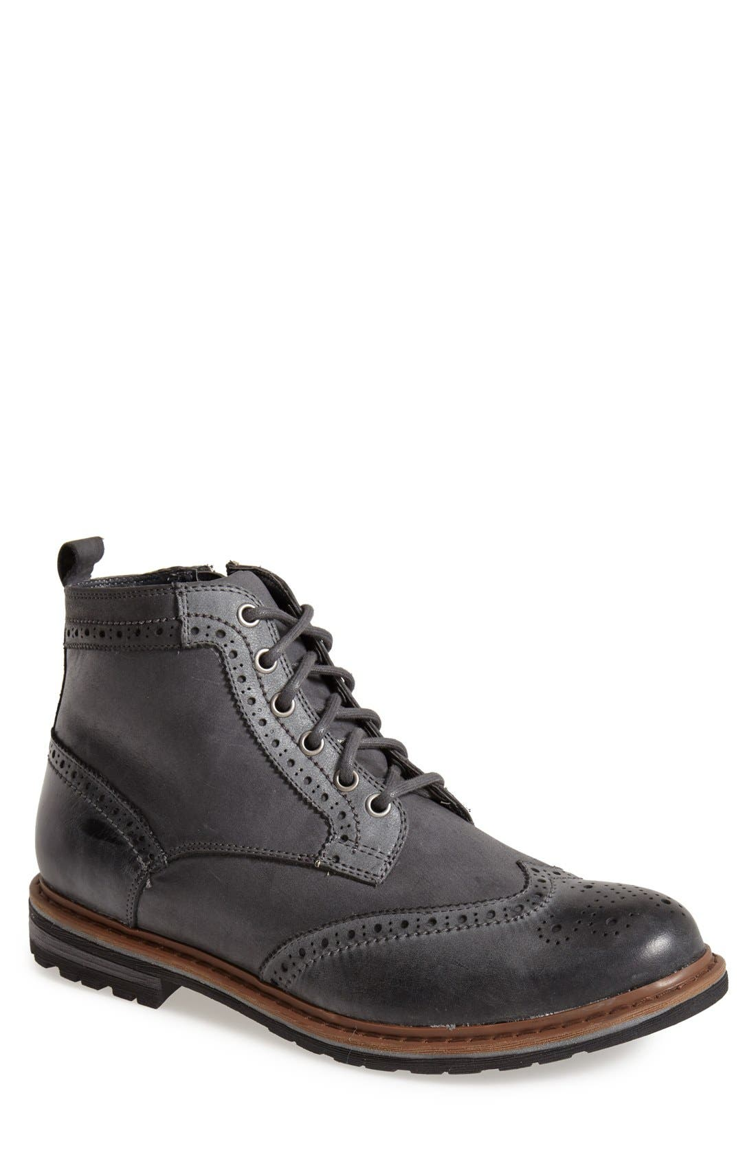 'Damien' Waterproof Wingtip Boot,                             Main thumbnail 1, color,