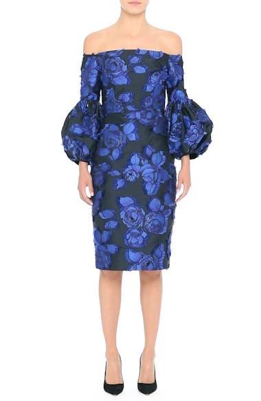 Fring Brocade Puff Sleeve Dress, video thumbnail