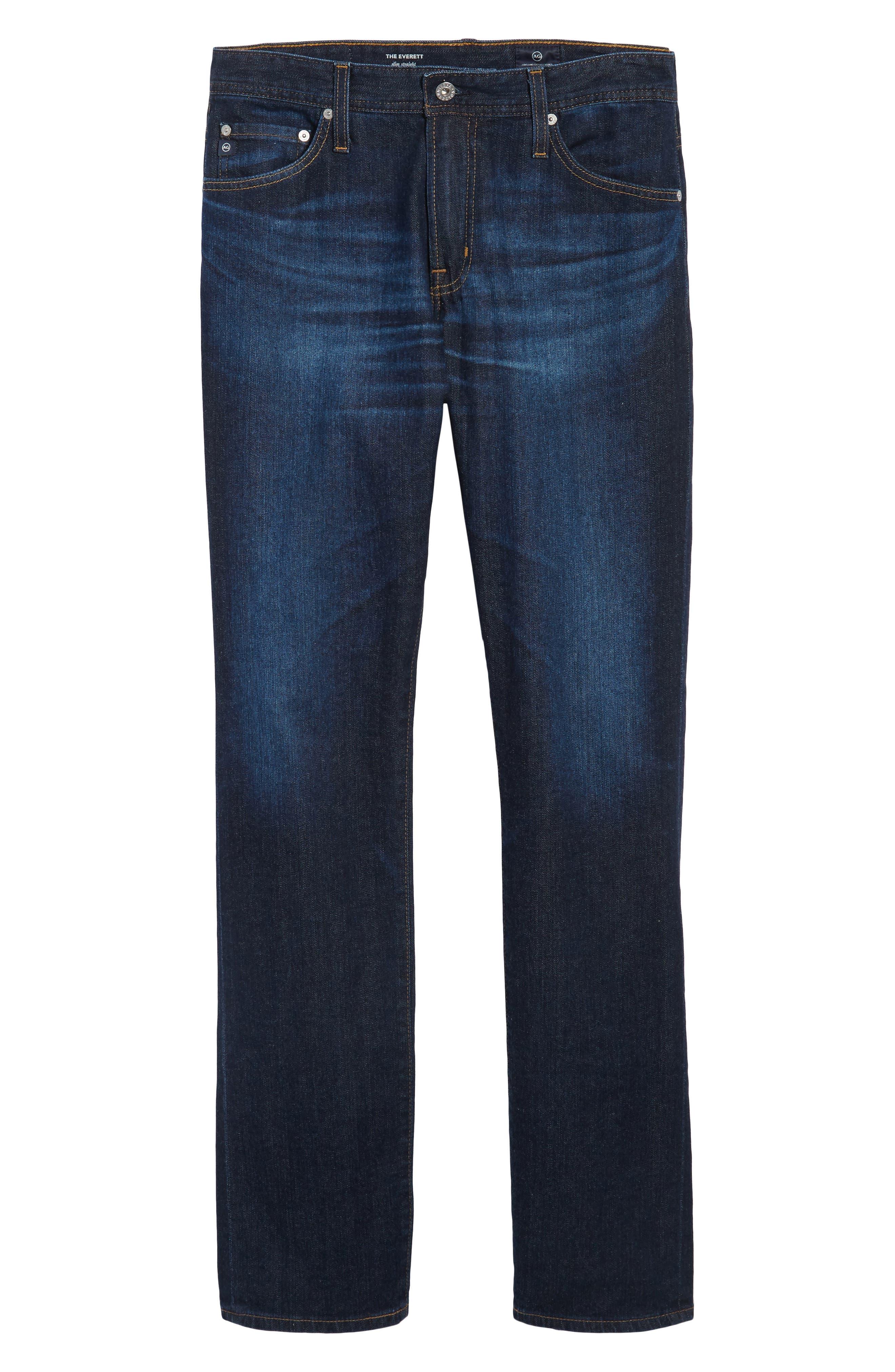 Everett Slim Straight Leg Jeans,                             Alternate thumbnail 6, color,                             409