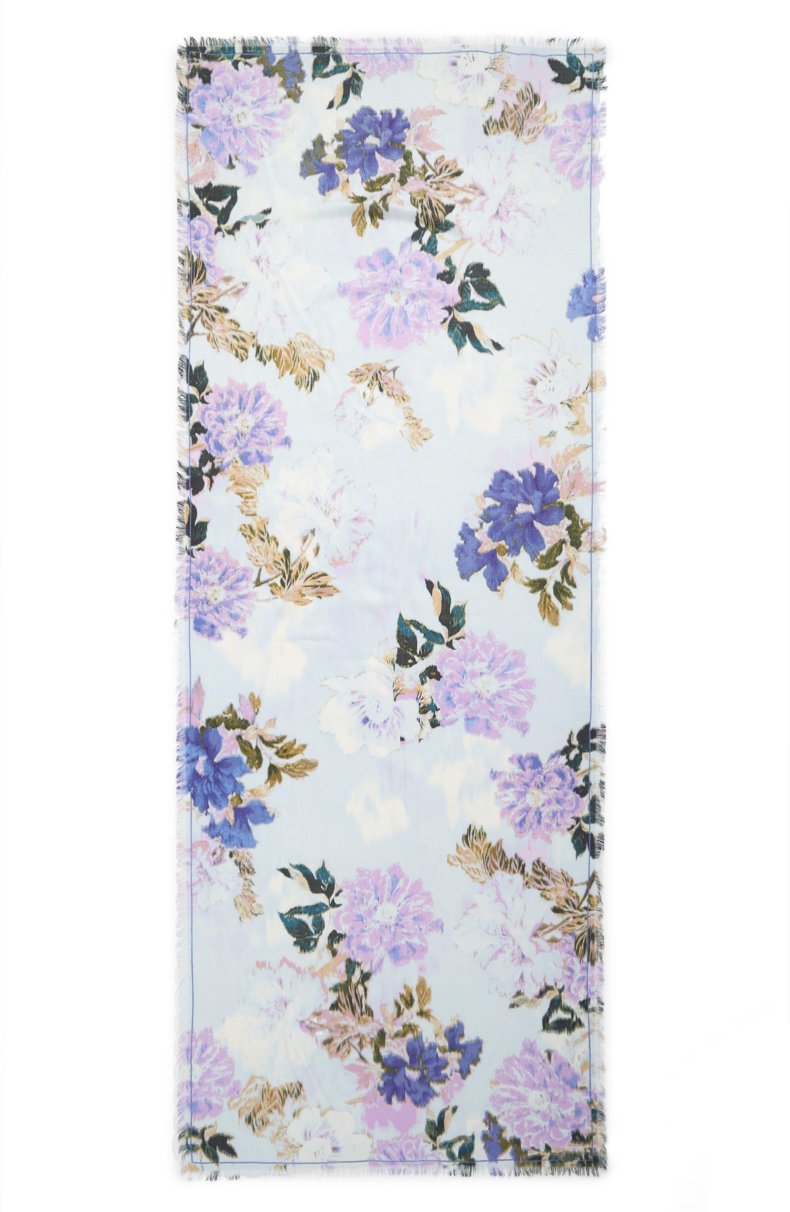 Eyelash Trim Print Cashmere & Silk Wrap,                             Alternate thumbnail 82, color,