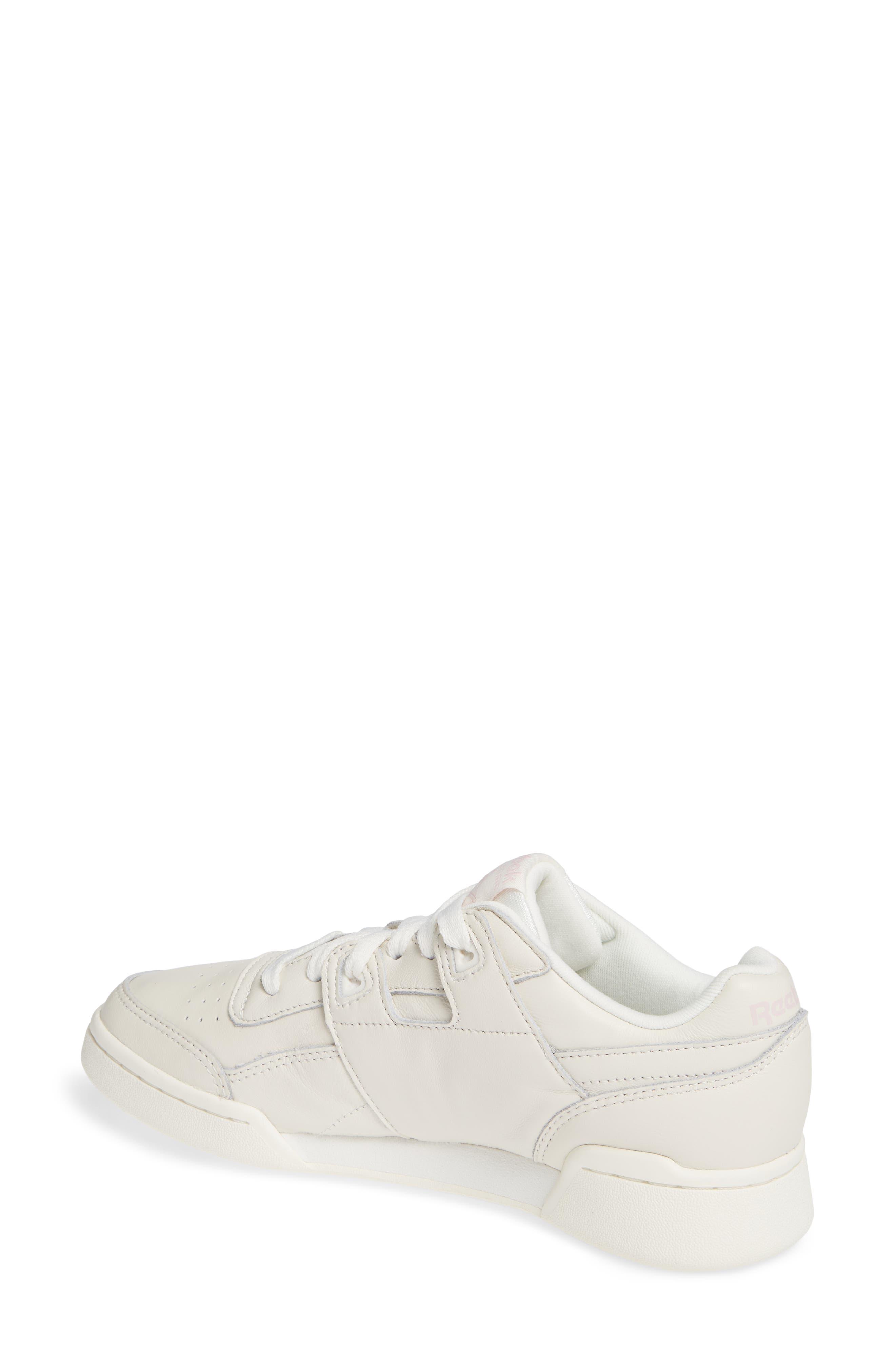 Workout Low Plus Sneaker,                             Alternate thumbnail 2, color,                             WHITE/ PRACTICAL PINK