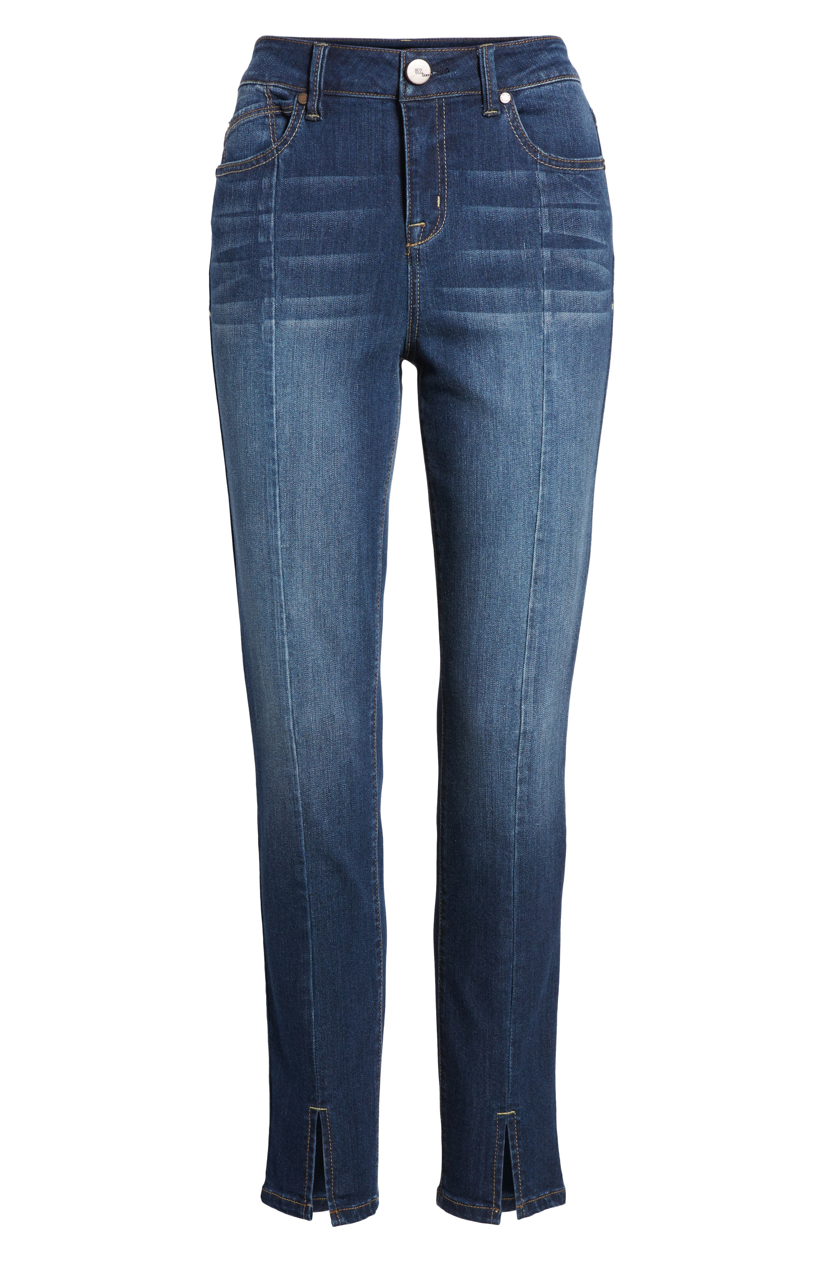 Front Seam Skinny Jeans,                             Alternate thumbnail 7, color,                             404