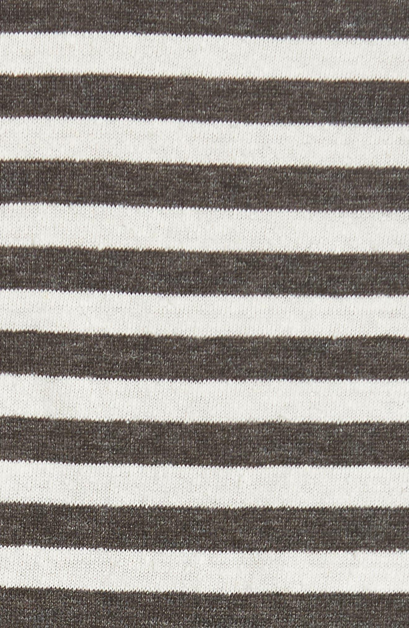 Stripe Crop Tee,                             Alternate thumbnail 5, color,                             NATURAL/ IRON