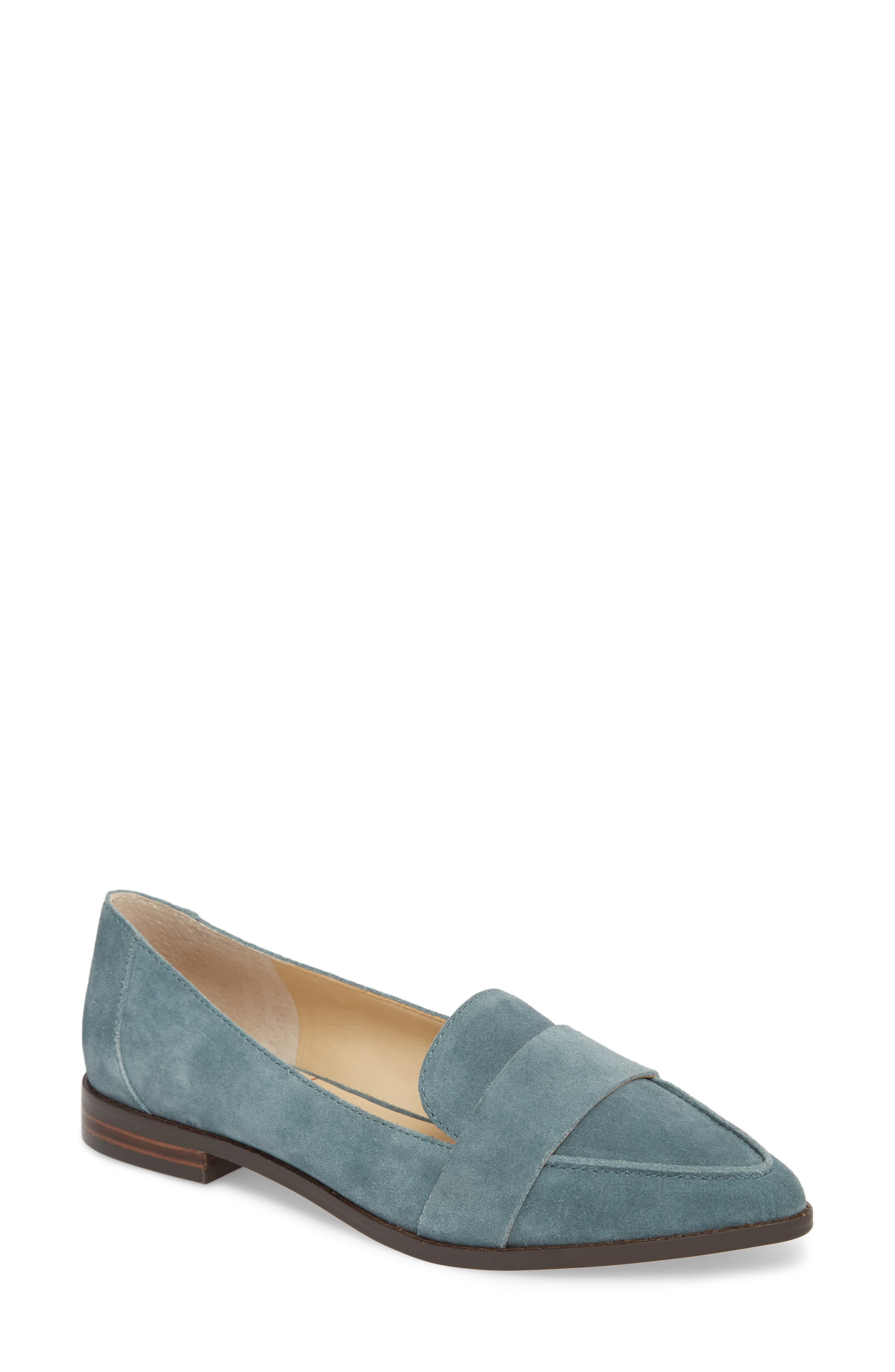 Edie Pointy Toe Loafer,                         Main,                         color, AGED SAGE