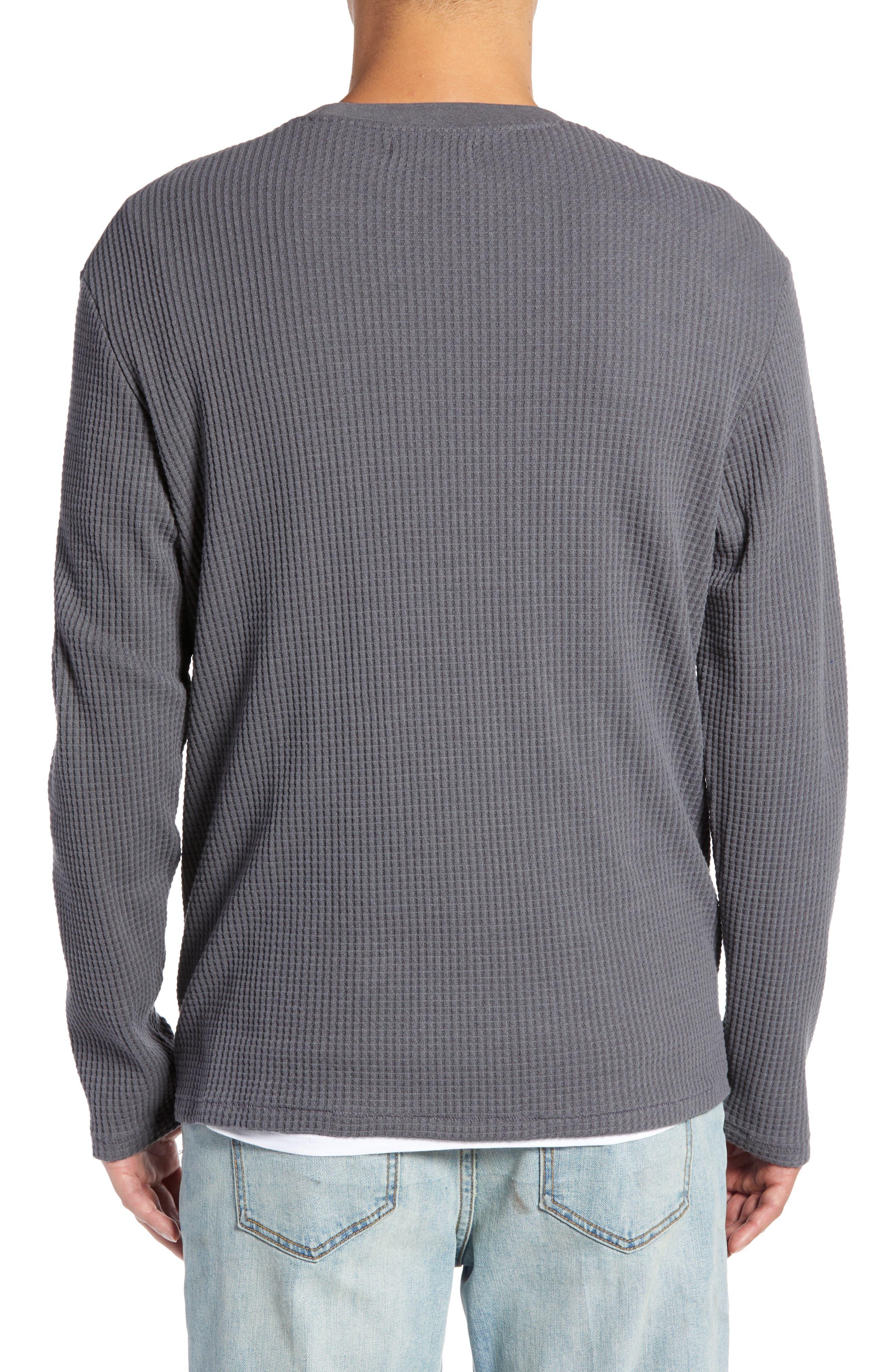 Regular Fit Thermal T-Shirt,                             Alternate thumbnail 2, color,                             GREY TORNADO