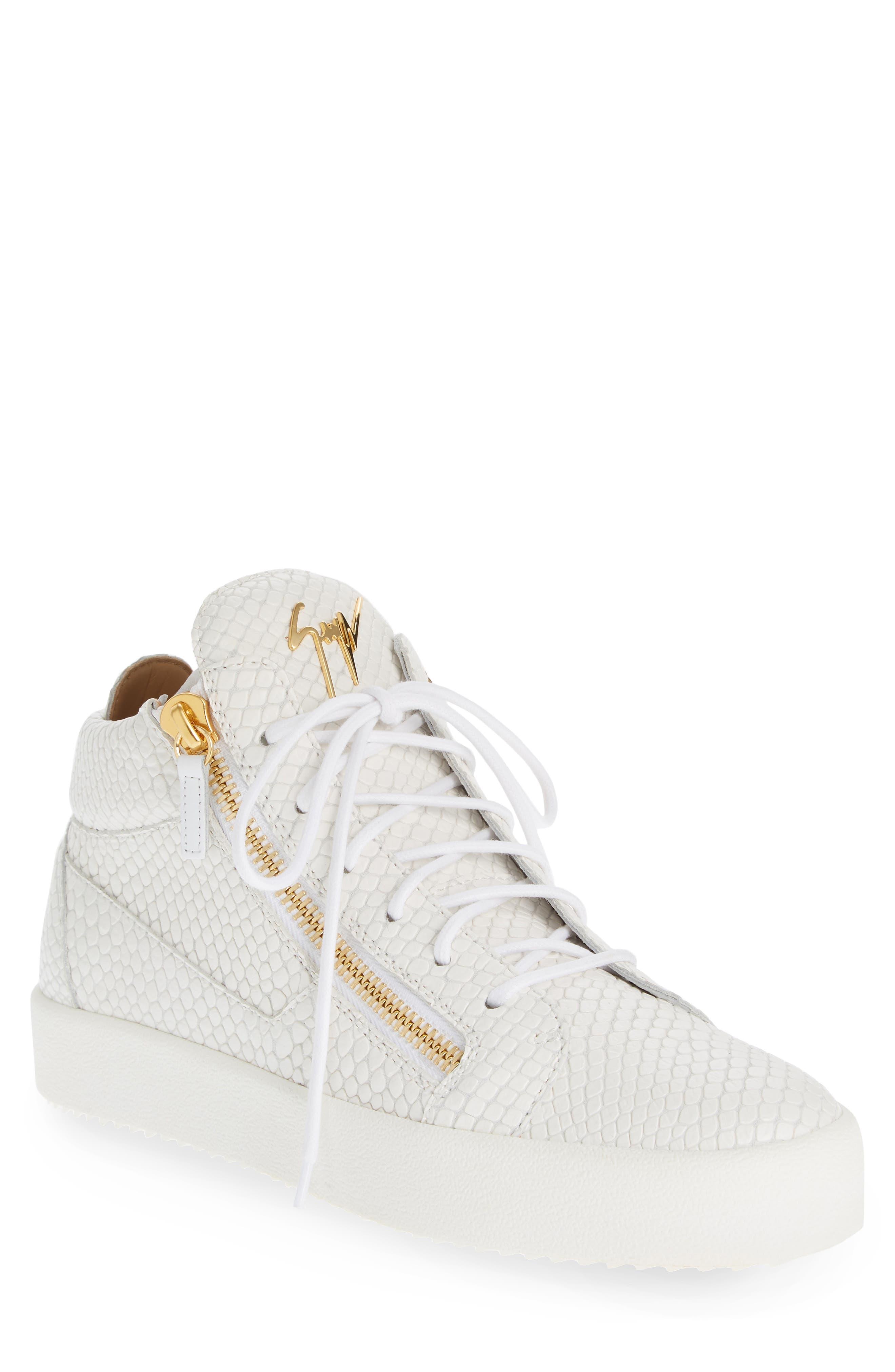 Mid Top Sneaker,                             Main thumbnail 1, color,                             BIANCO