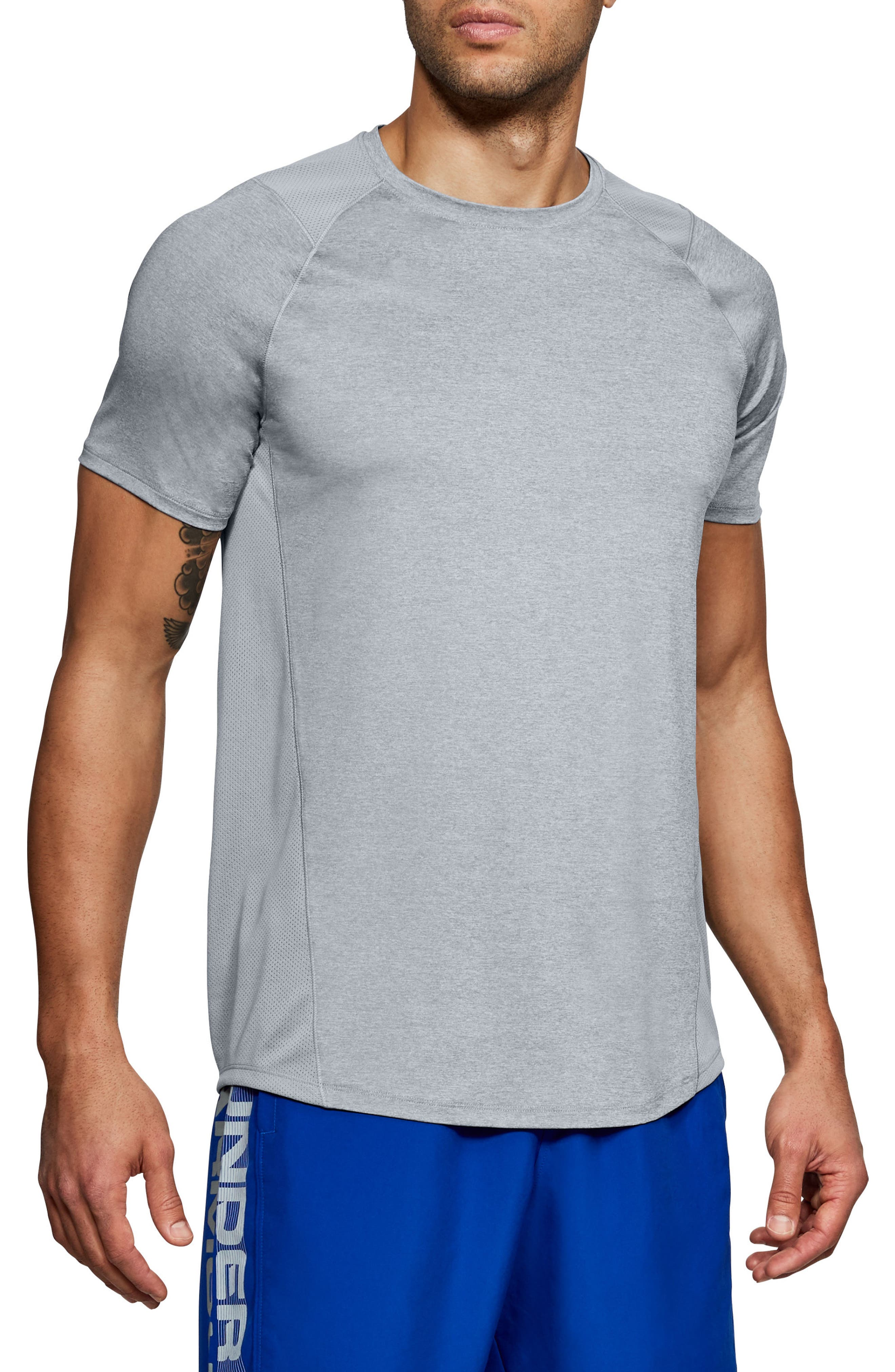 Raid 2.0 Crewneck T-Shirt,                             Main thumbnail 1, color,                             STEEL LIGHT HEATHER/ GRAPHITE