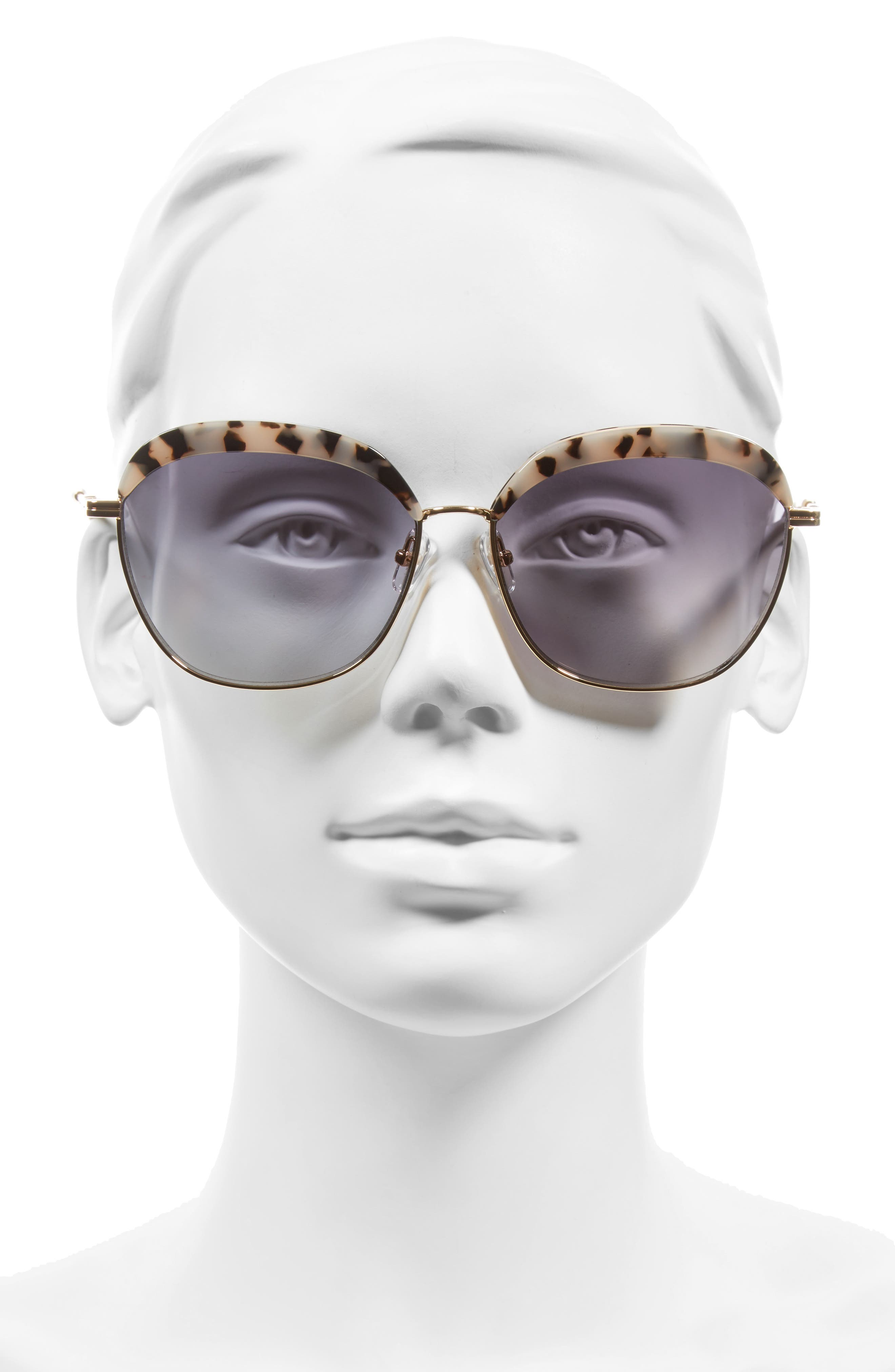 Birdie 60mm Oversize Sunglasses,                             Alternate thumbnail 2, color,                             200