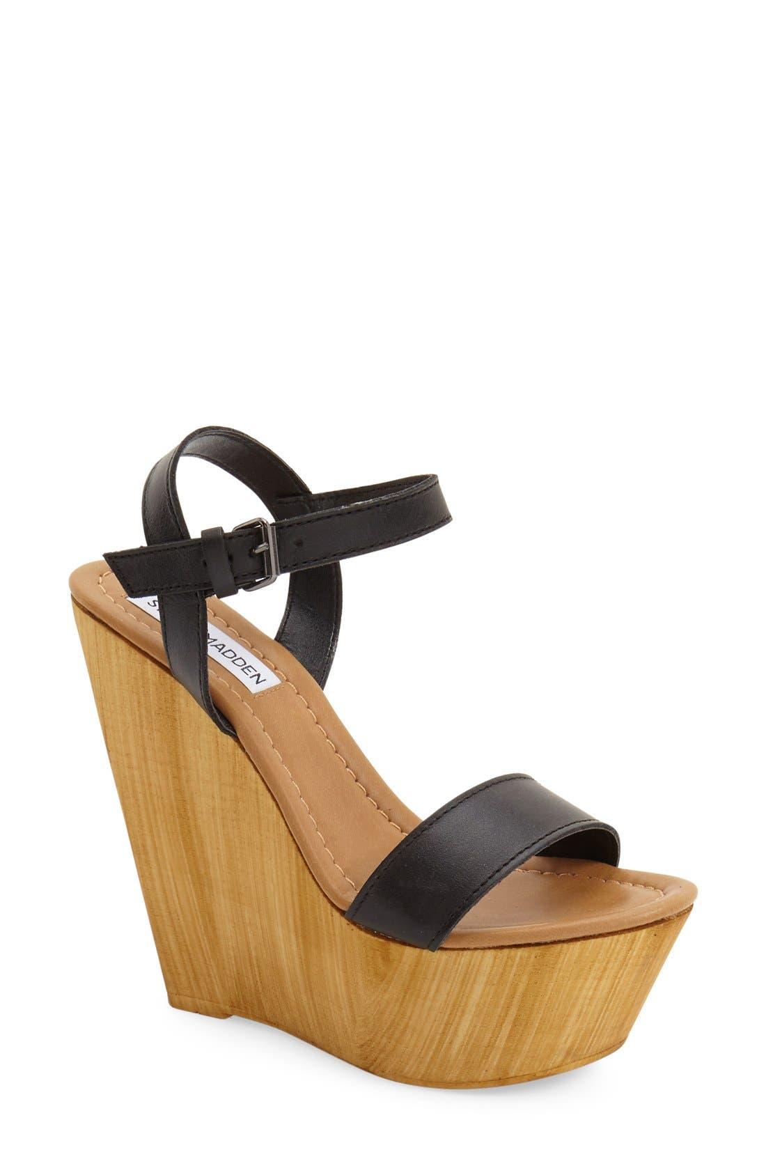 'Kalesi' Platform Wedge Sandal,                             Main thumbnail 1, color,                             001