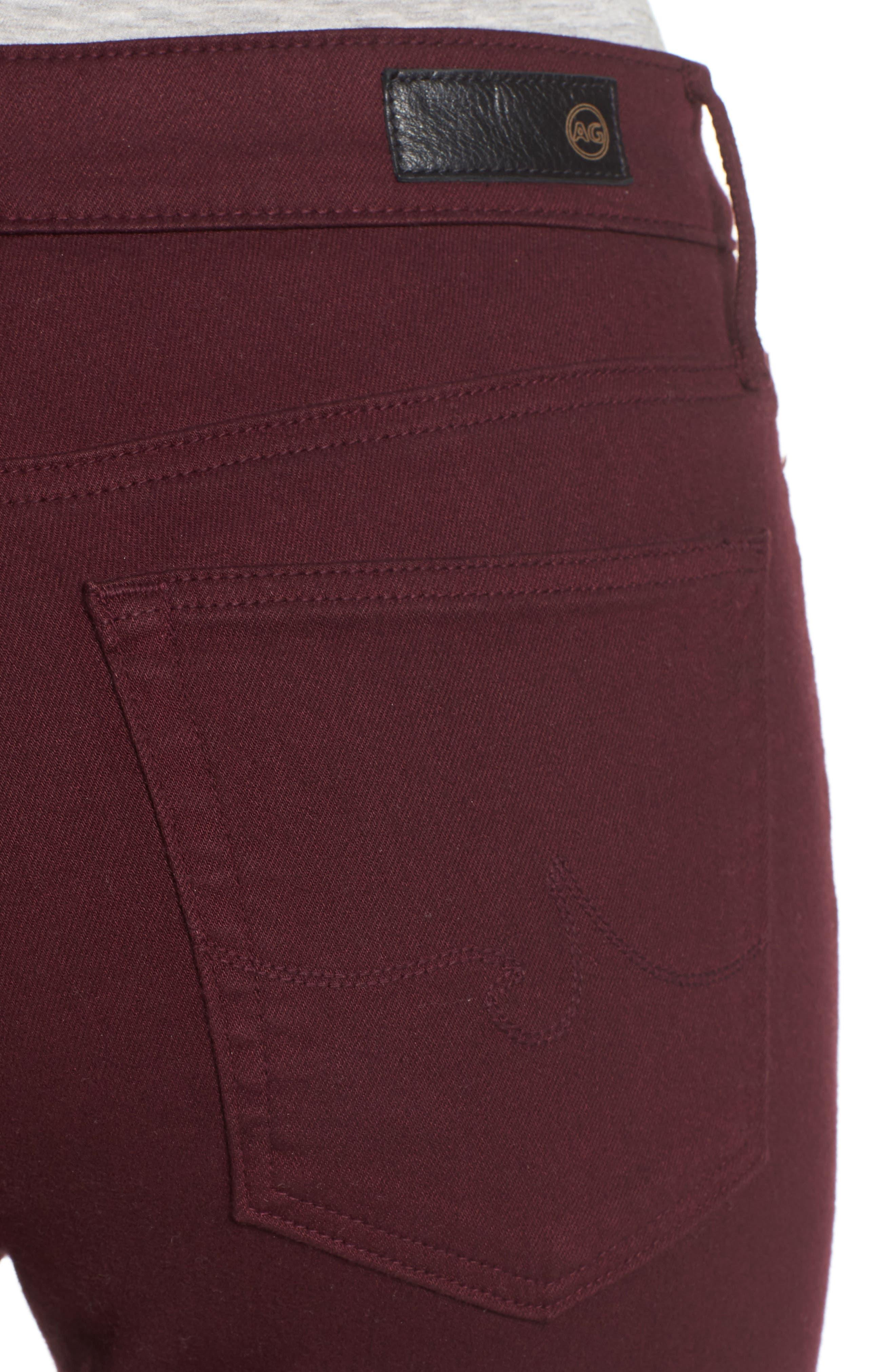 AG,                             Farrah High Waist Skinny Jeans,                             Alternate thumbnail 4, color,                             609