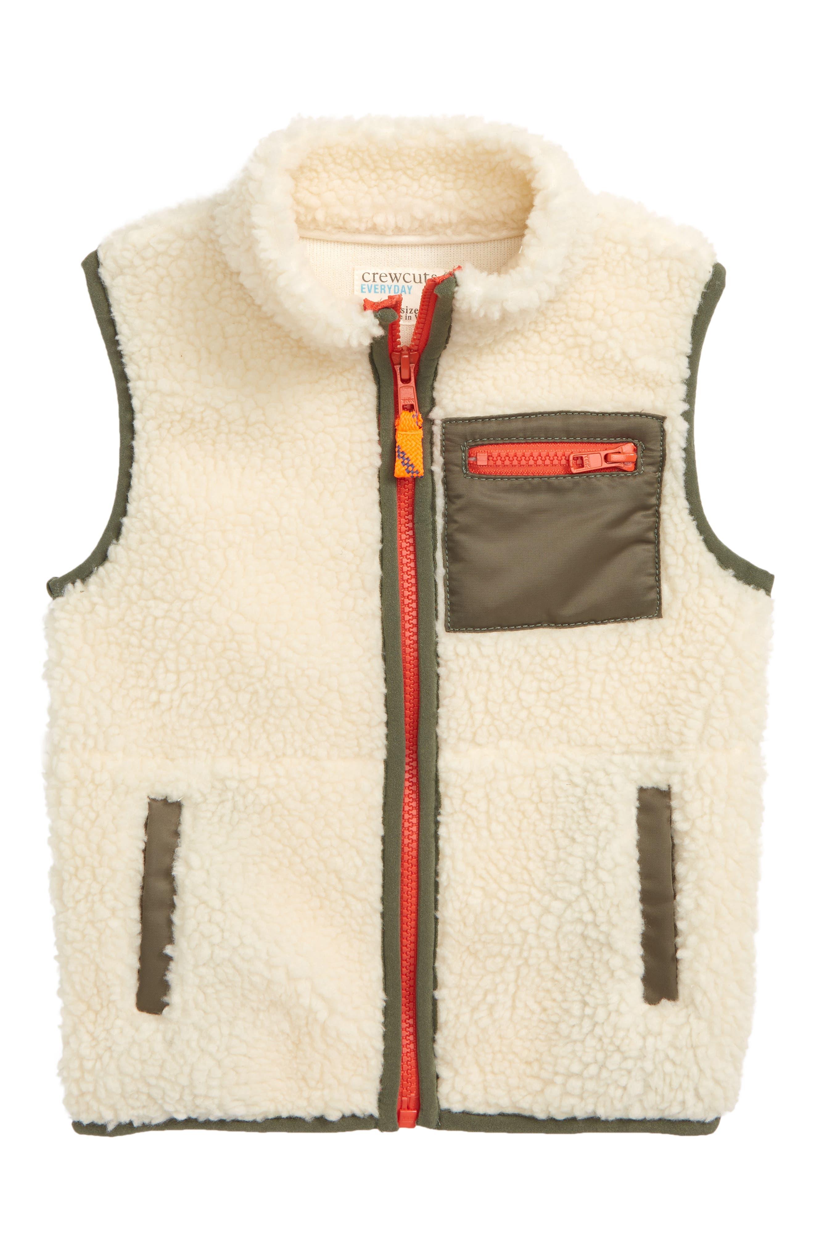 High Pile Fleece Vest,                         Main,                         color, 250