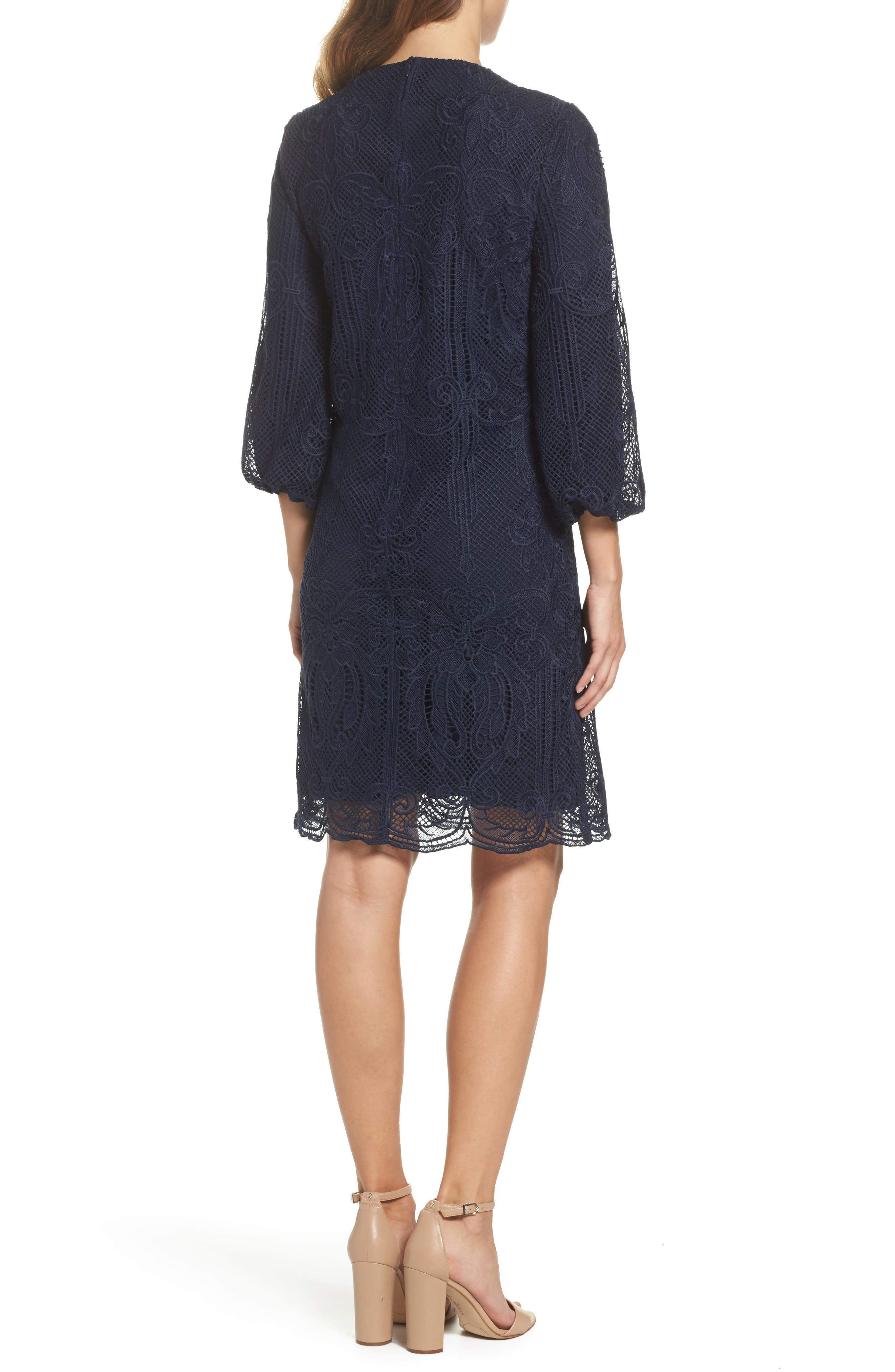 Kandace Lace Shift Dress,                             Alternate thumbnail 4, color,