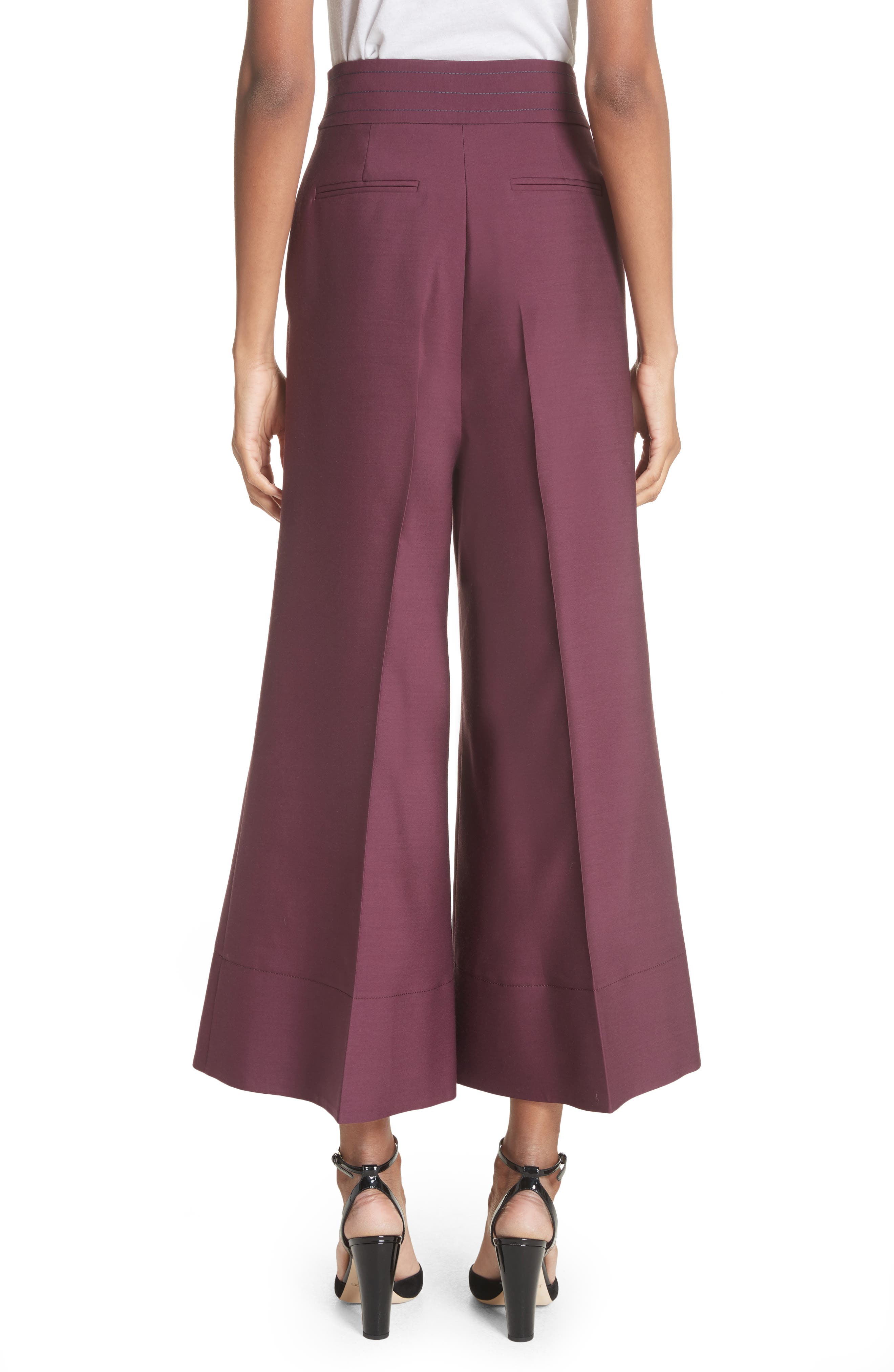 Sina Wide Leg Trousers,                             Alternate thumbnail 2, color,