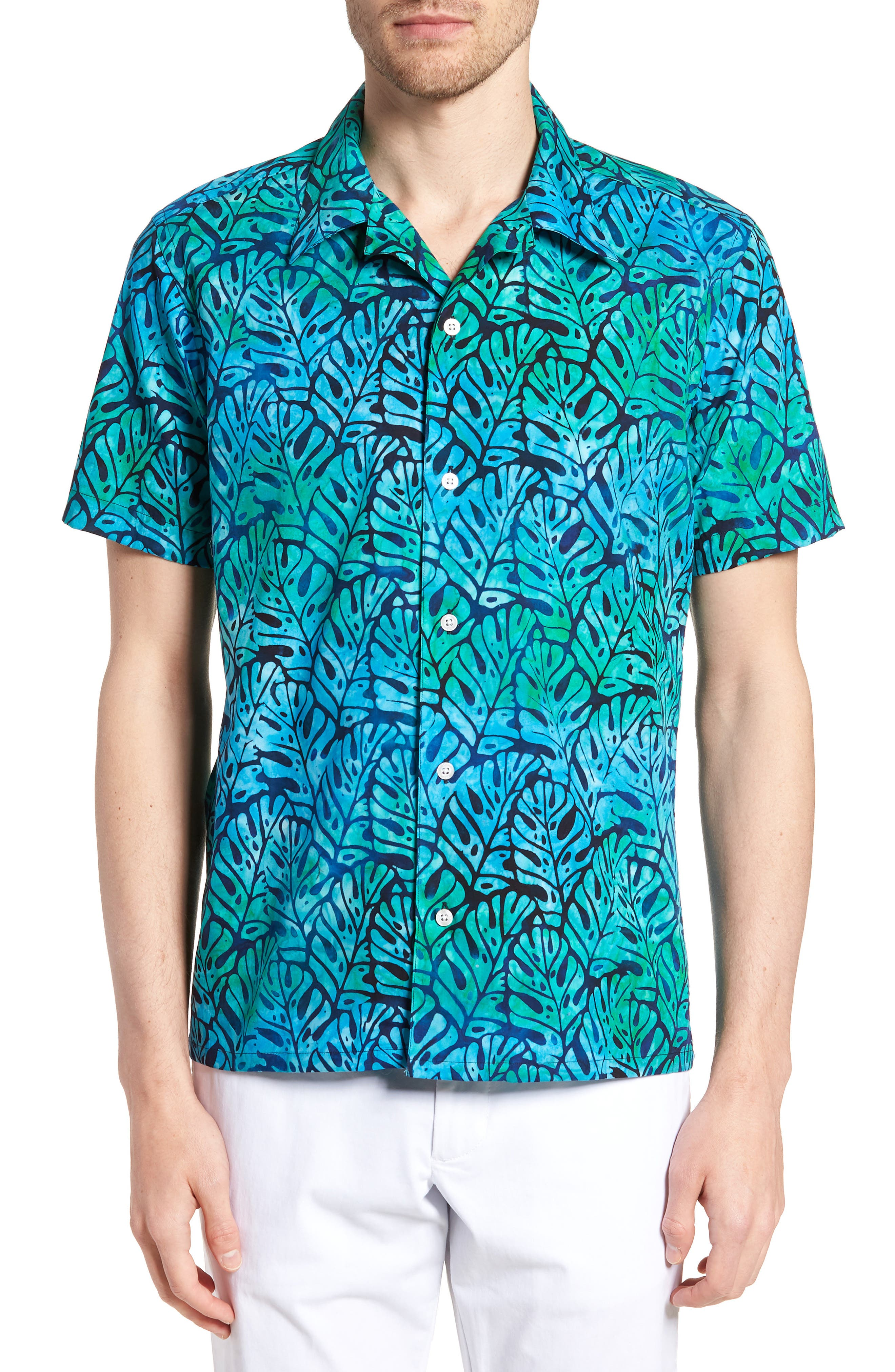 Oahu Trim Fit Sport Shirt,                             Main thumbnail 1, color,